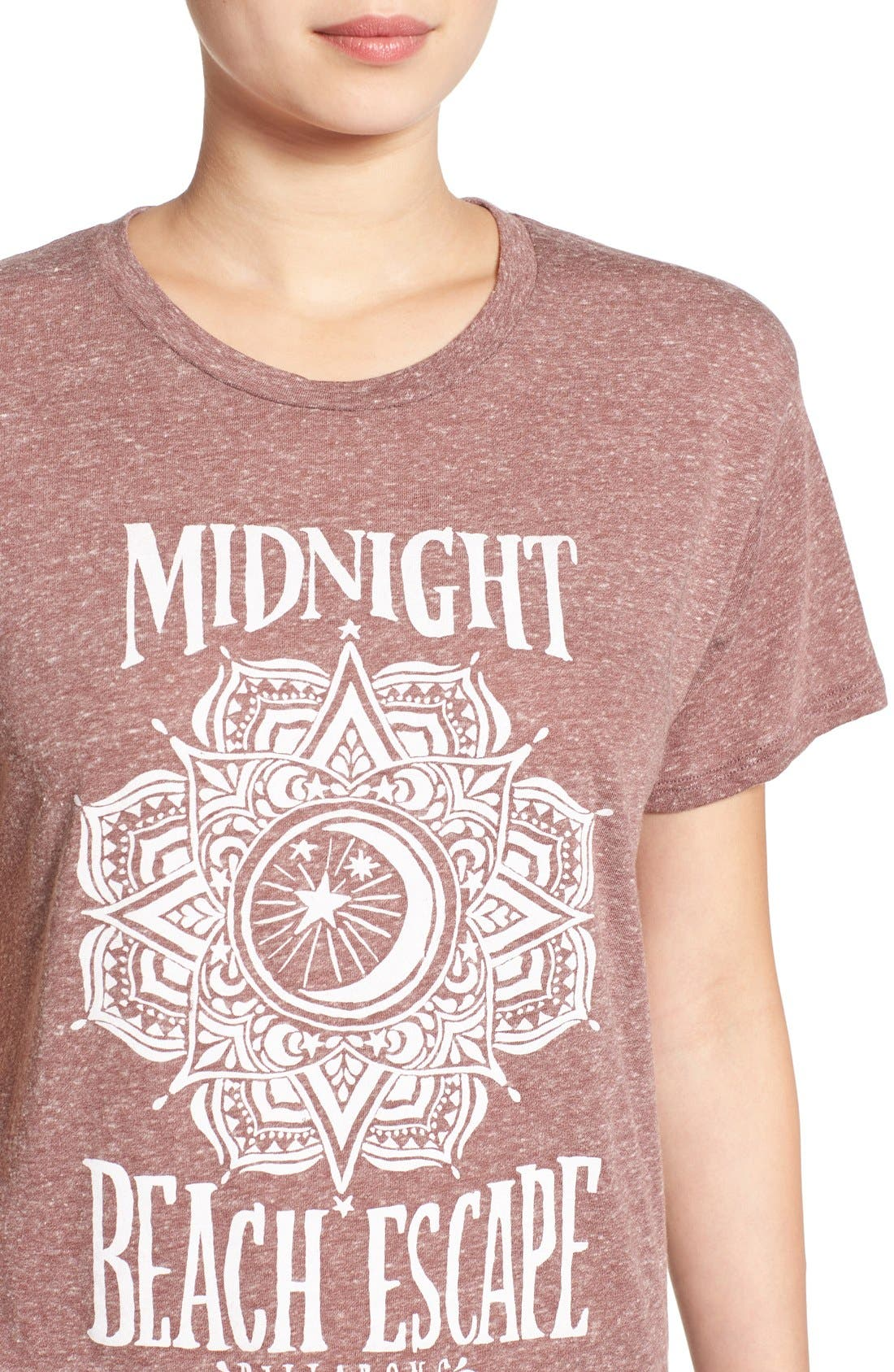 'Midnight Escape' Graphic Tee,                             Alternate thumbnail 4, color,                             Mauve Wood