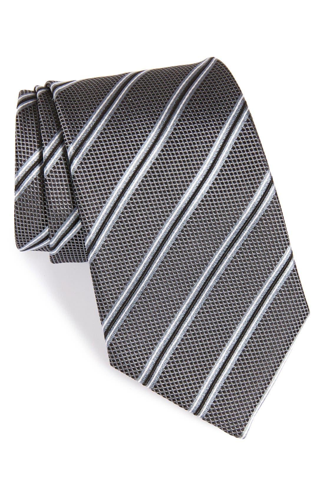 Alternate Image 1 Selected - Armani Collezioni Stripe Silk Tie