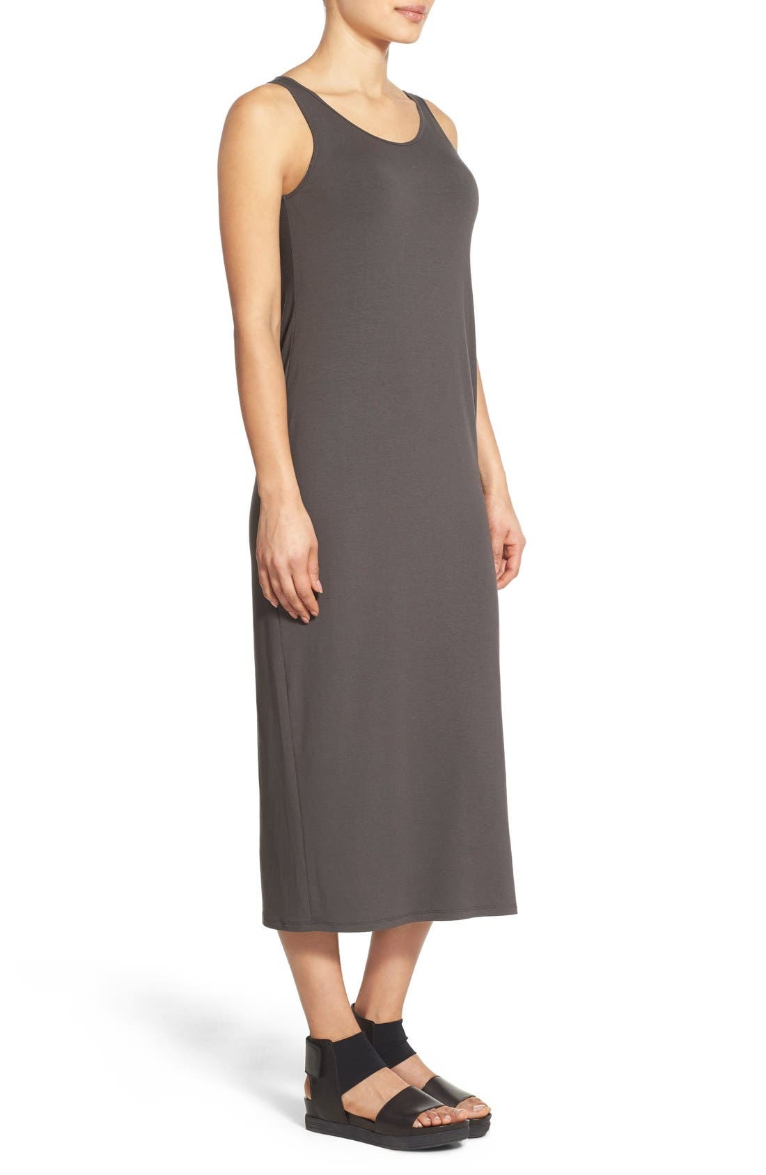 Alternate Image 3  - Eileen Fisher Scoop Neck Jersey Midi Dress (Regular & Petite)