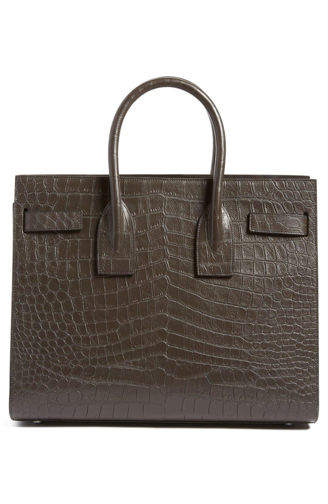 Alternate Image 3  - Saint Laurent 'Small Sac de Jour' Croc Embossed Leather Tote