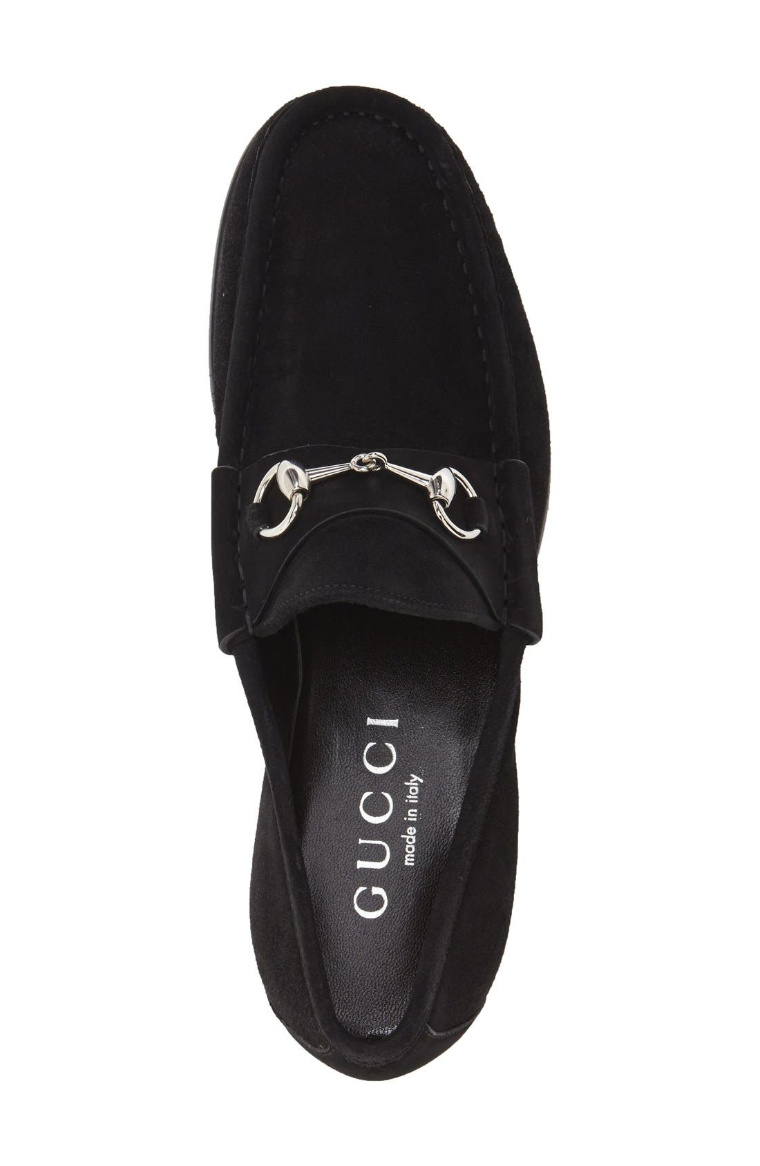 Alternate Image 3  - Gucci Classic Suede Moccasin