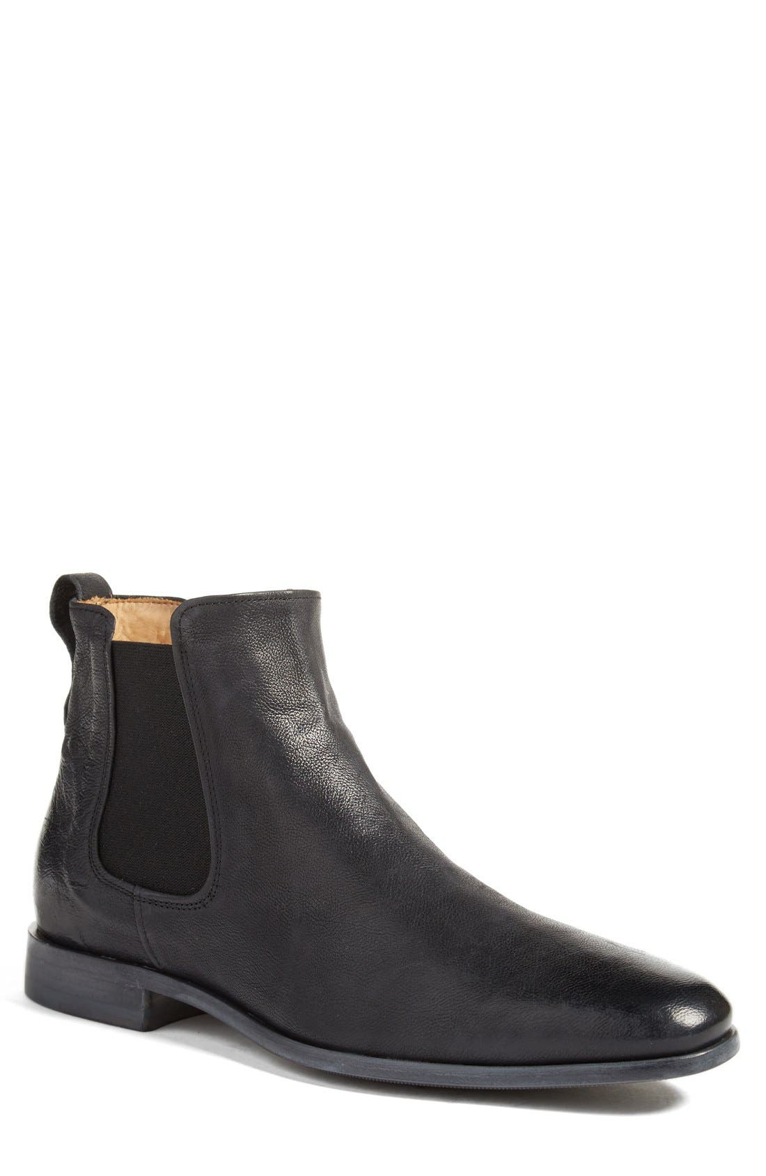 Arthur Chelsea Boot,                             Main thumbnail 1, color,                             Black Leather