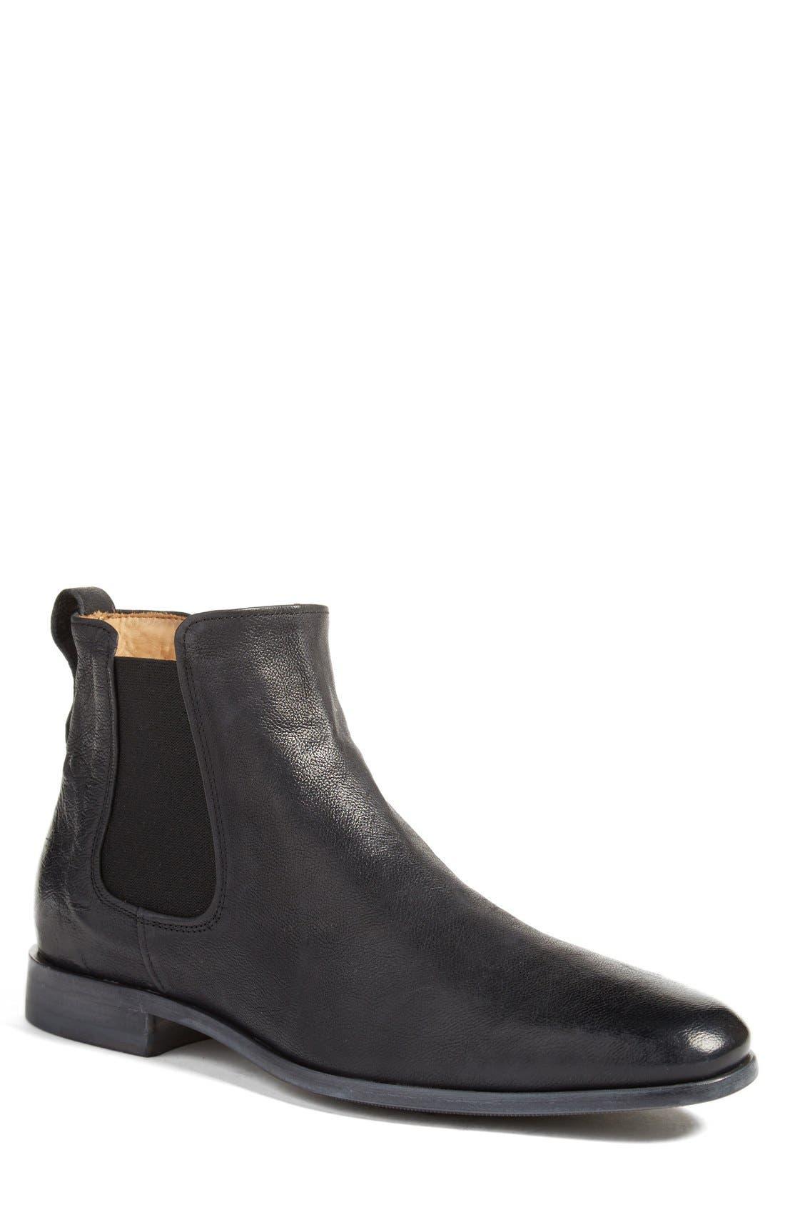 Arthur Chelsea Boot,                         Main,                         color, Black Leather