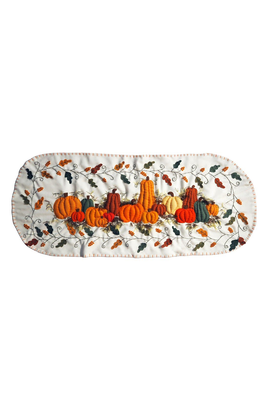 Pumpkins Table Runner,                         Main,                         color, Orange/ Cream
