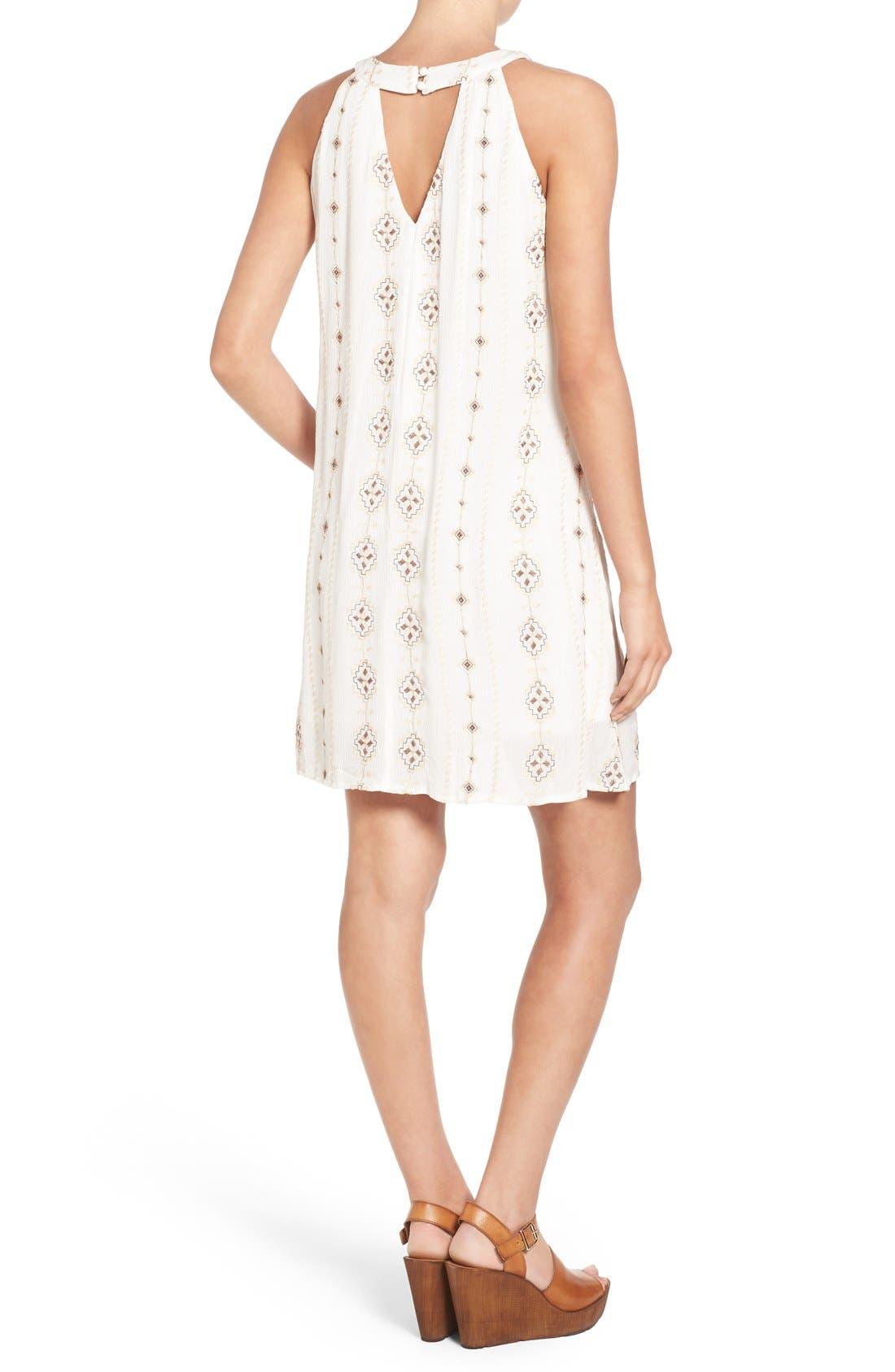 Alternate Image 2  - Roxberi Elle Crochet Inset Embroidered Shift Dress