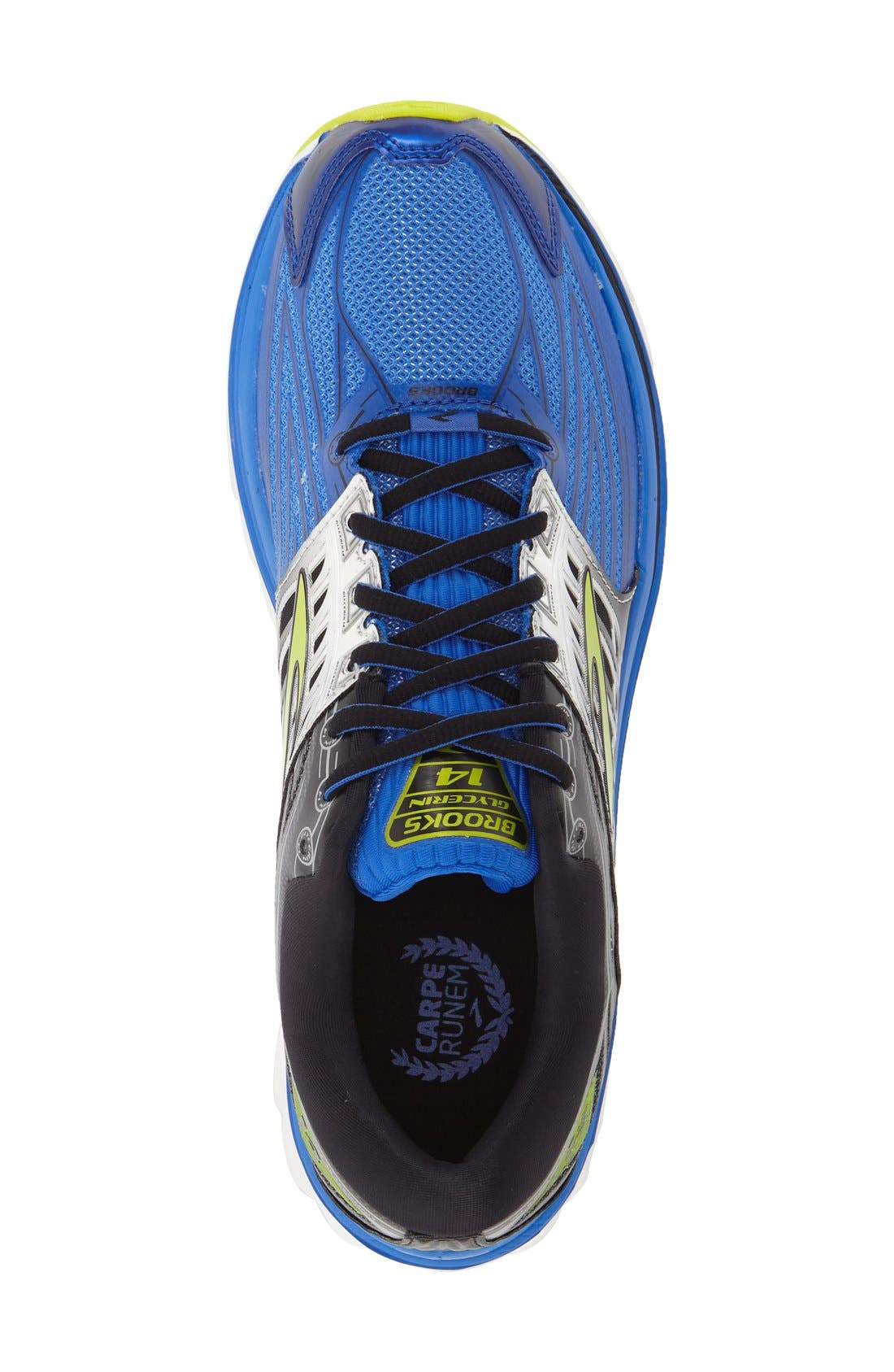 'Glycerin 14' Running Shoe,                             Alternate thumbnail 3, color,                             Electric Blue/ Black/ Punch