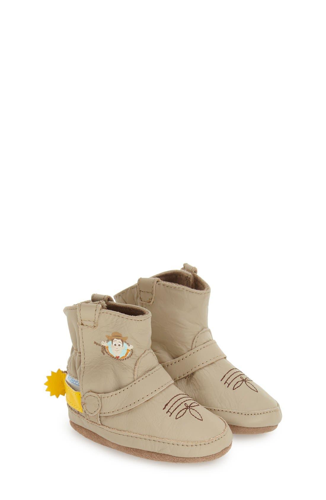 Robeez® 'Disney® Woody® Bootie' Crib Shoe (Baby & Walker)