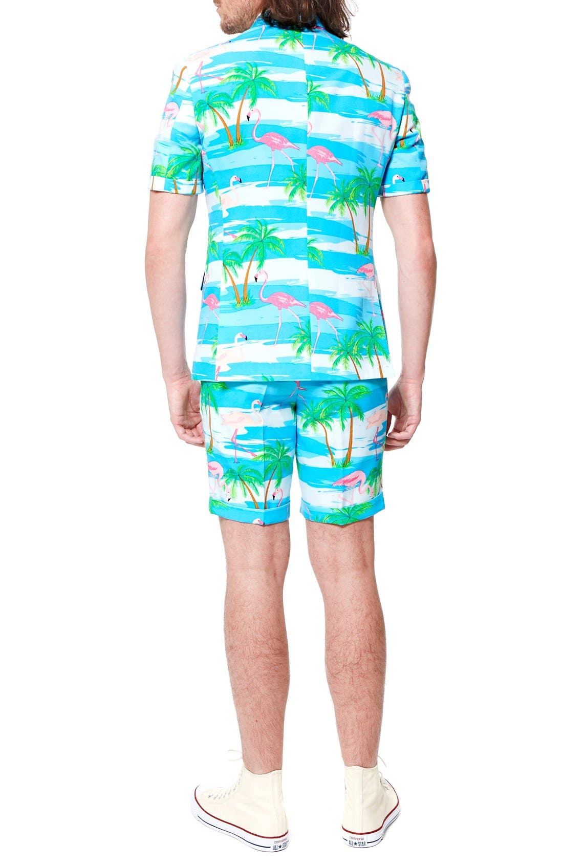 Alternate Image 2  - OppoSuits 'Flaminguy - Summer' Trim Fit Two-Piece Short Suit with Tie