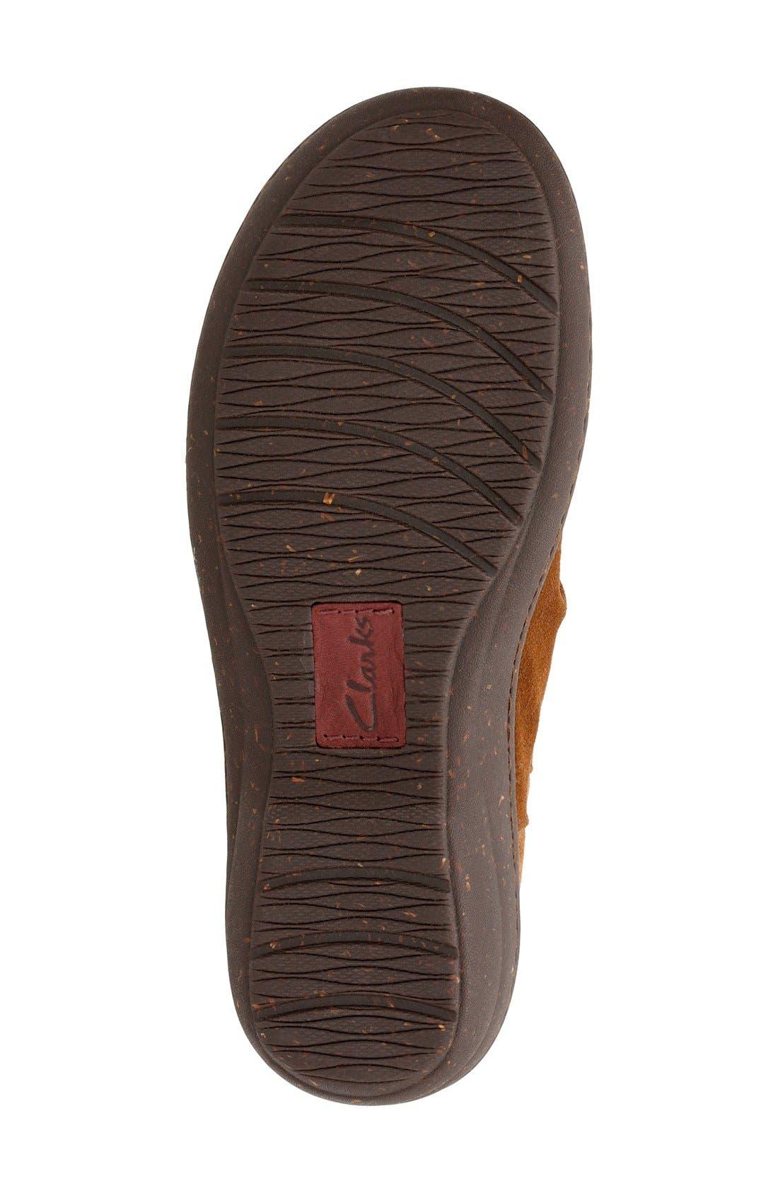 'Avington Swan' Ankle Boot,                             Alternate thumbnail 4, color,                             Tan Suede