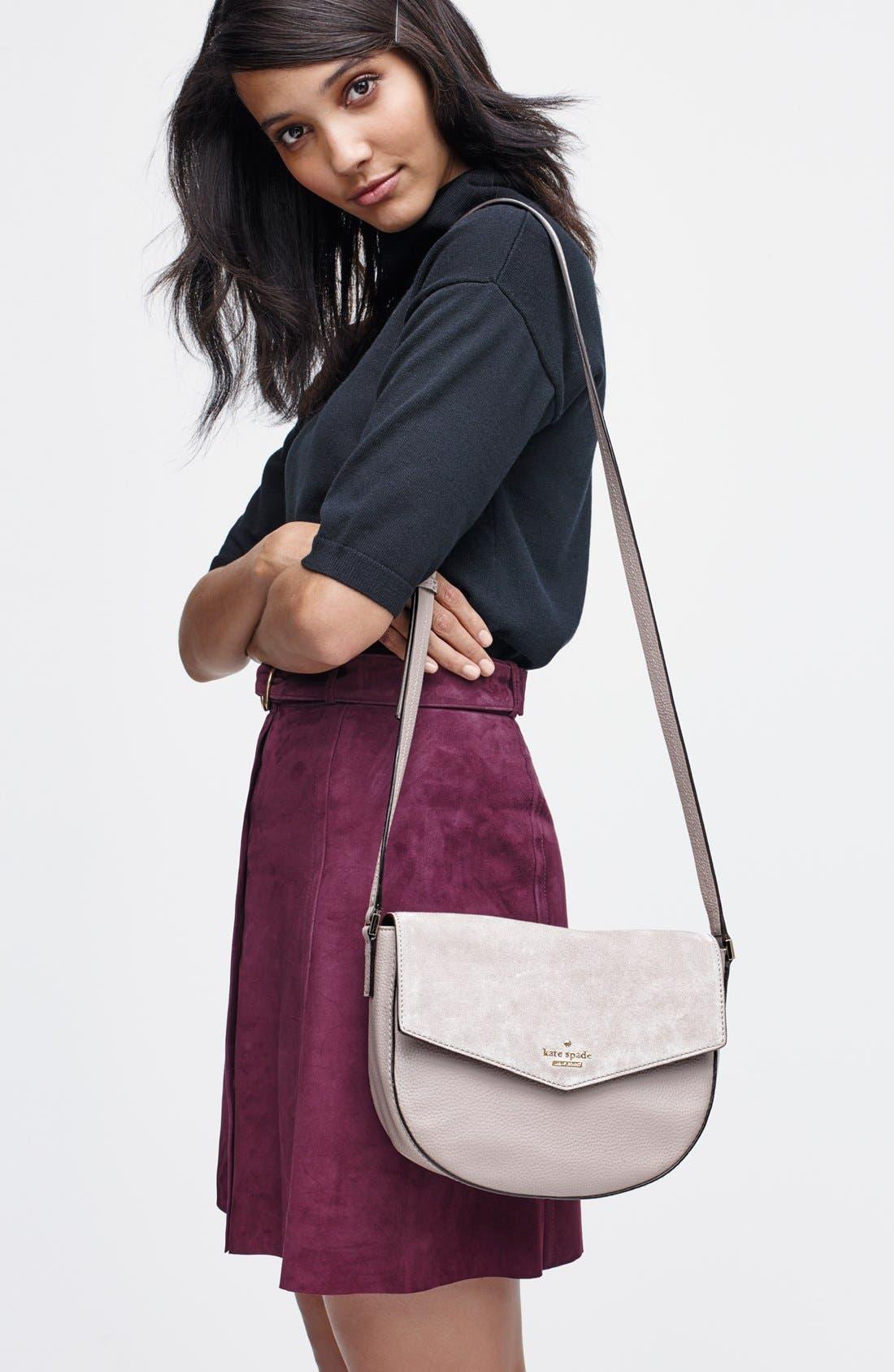 Alternate Image 8  - kate spade new york 'spencer court - lavinia' leather & suede crossbody bag