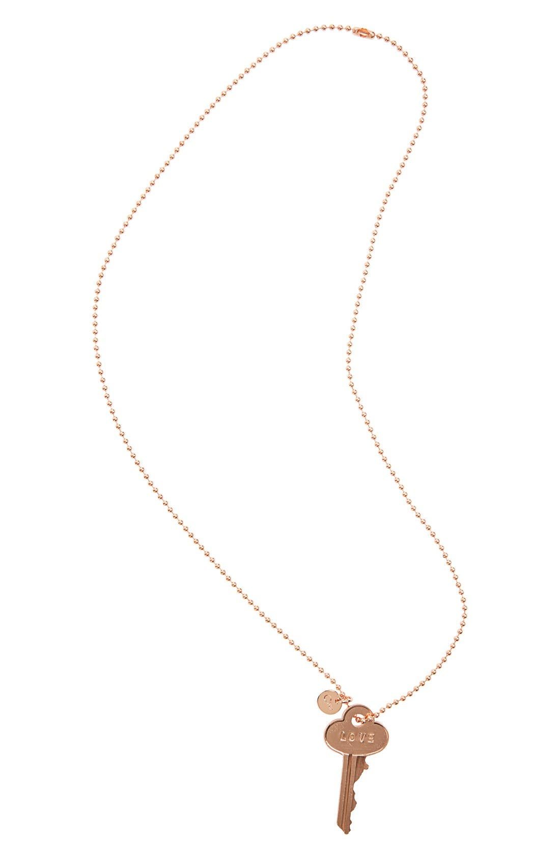 Main Image - The Giving Keys 'Classic - Love' 27-Inch Key Pendant Necklace