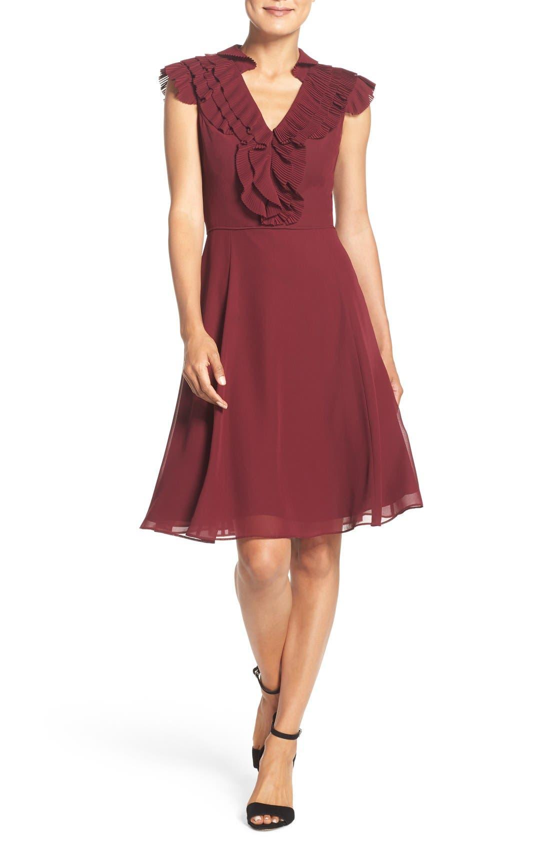 Main Image - Adrianna Papell Ruffled A-Line Dress