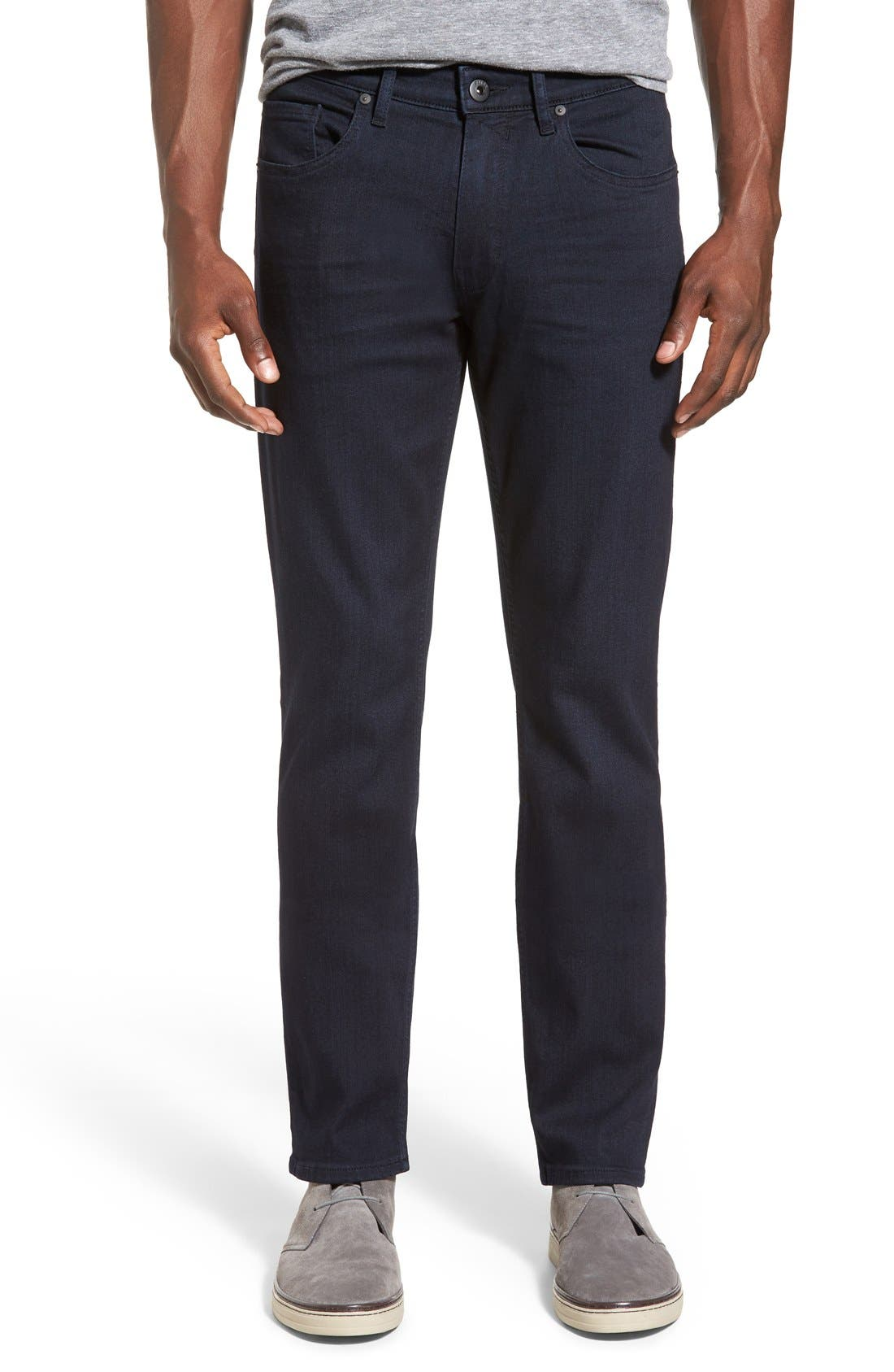 Main Image - PAIGE Transcend - Federal Slim Straight Leg Jeans (Inkwell)