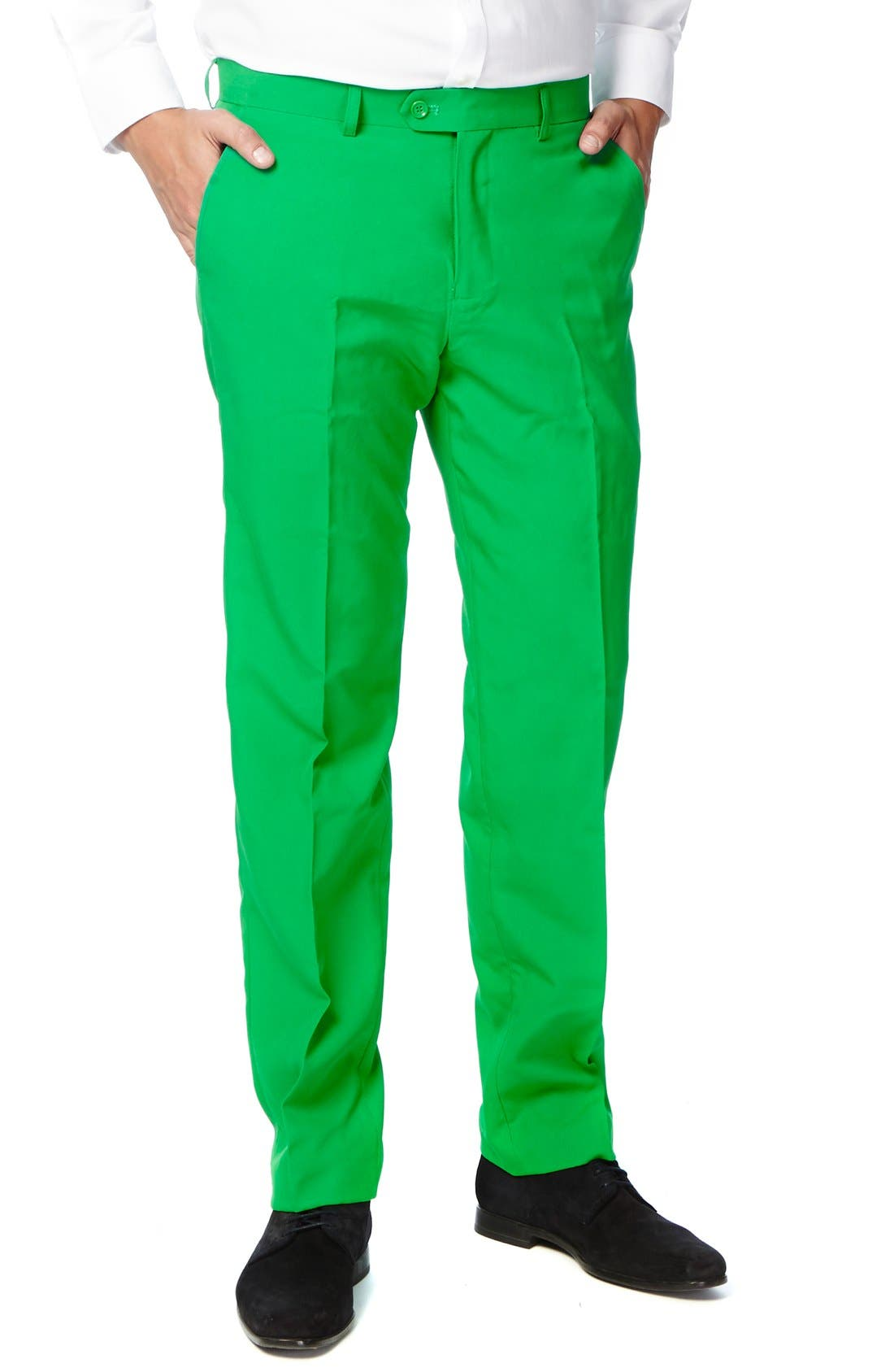 'Evergreen' Trim Fit Suit with Tie,                             Alternate thumbnail 3, color,                             Green
