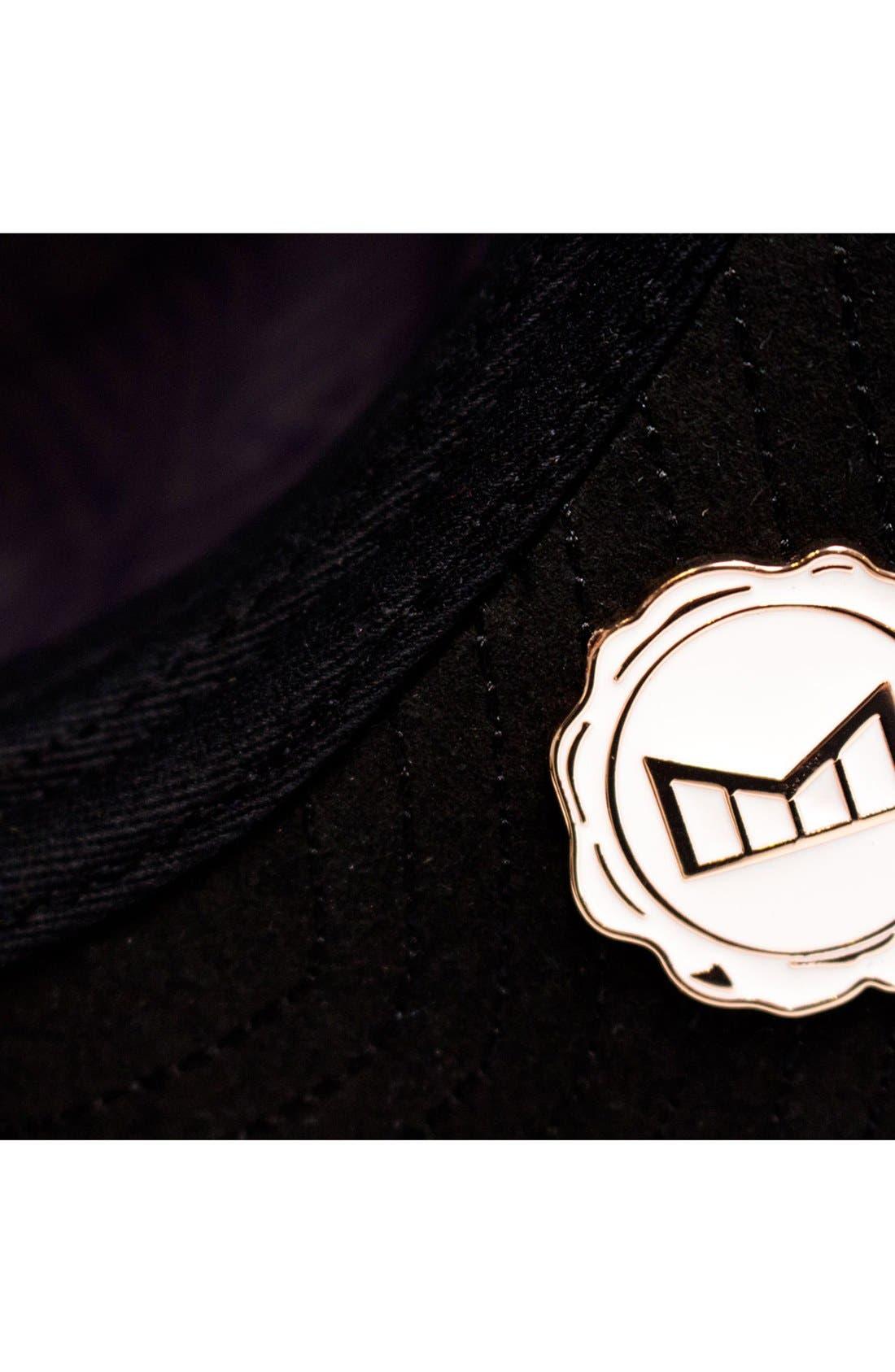 'The Majesty' Mesh Back Snapback Hat,                             Alternate thumbnail 7, color,                             Black