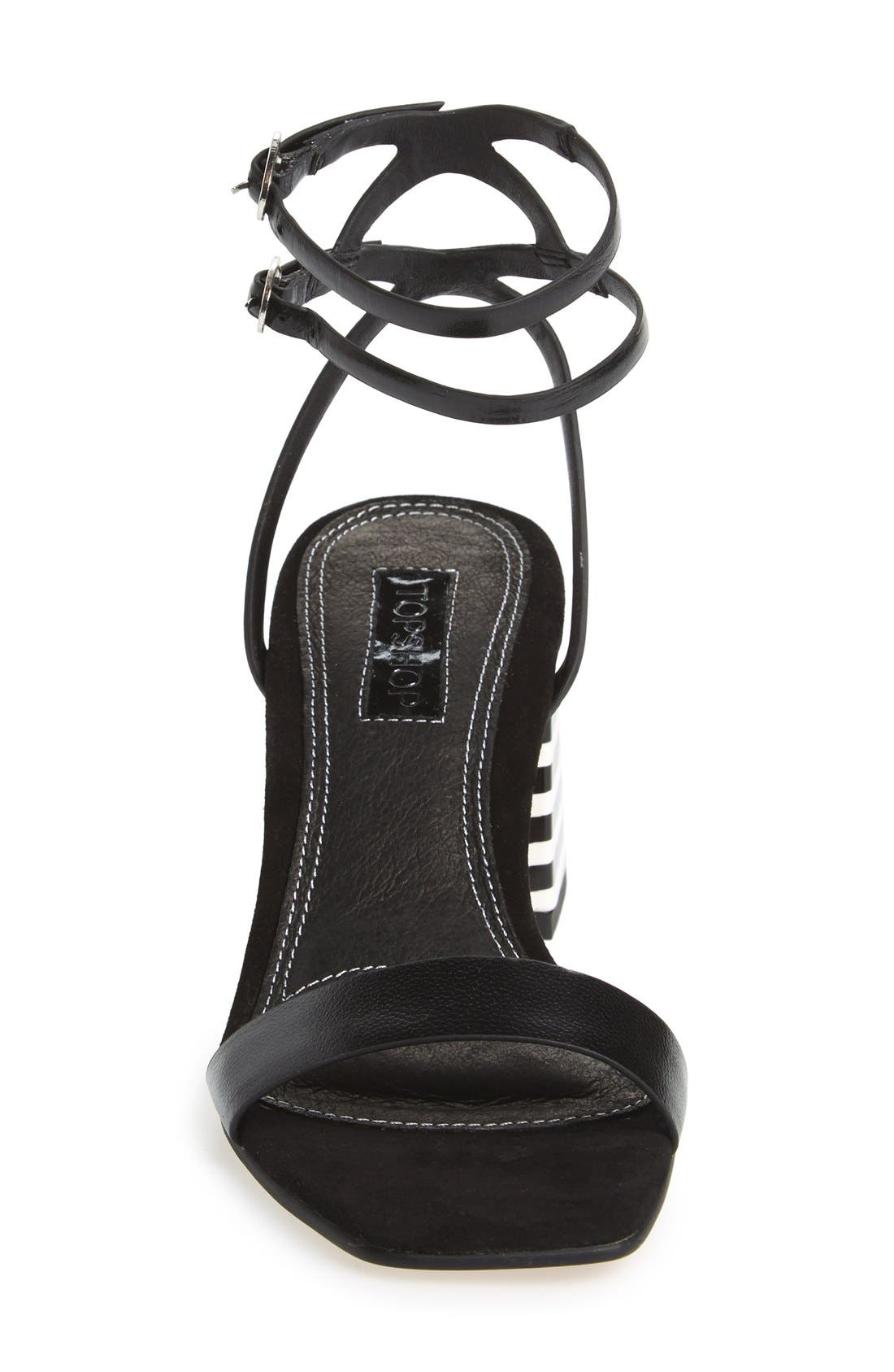 Alternate Image 3  - Topshop 'Nipper' Ankle Wrap Sandal (Women)