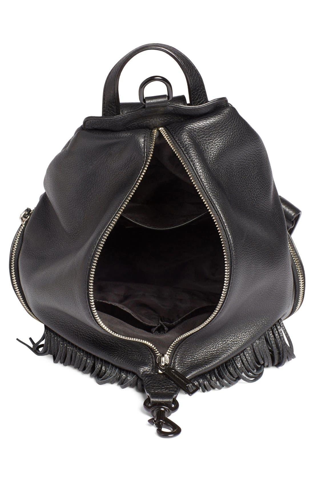 'Fringe Julian' Backpack,                             Alternate thumbnail 4, color,                             Black