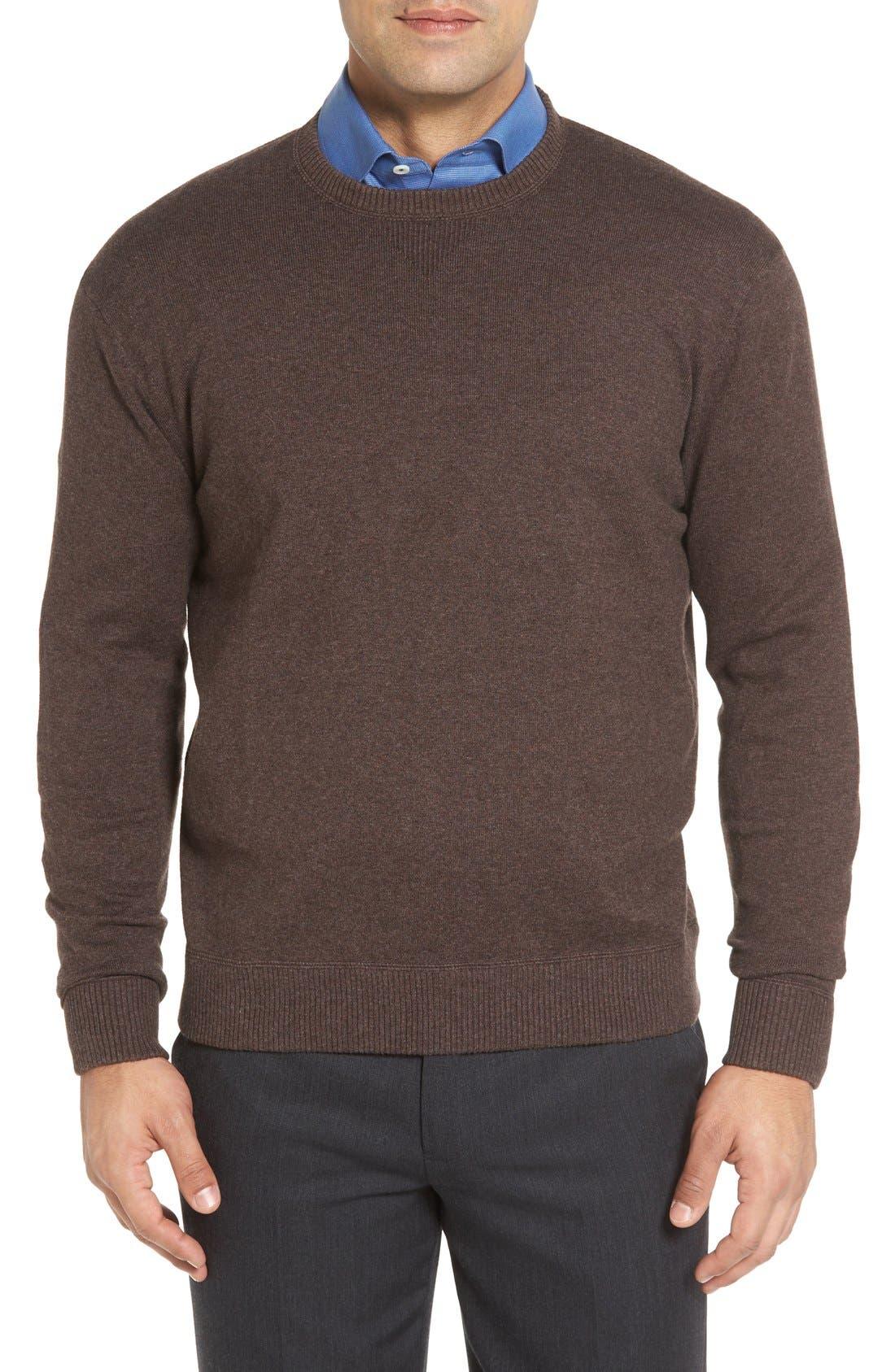 Main Image - Robert Talbott 'Jersey Sport' Cotton Blend Crewneck Sweater