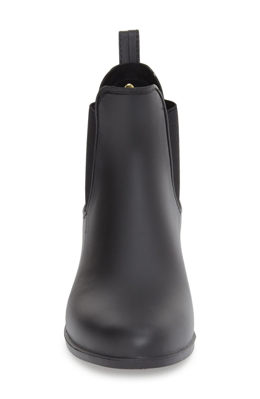 'Tinsley' Rain Boot,                             Alternate thumbnail 3, color,                             Matte Black
