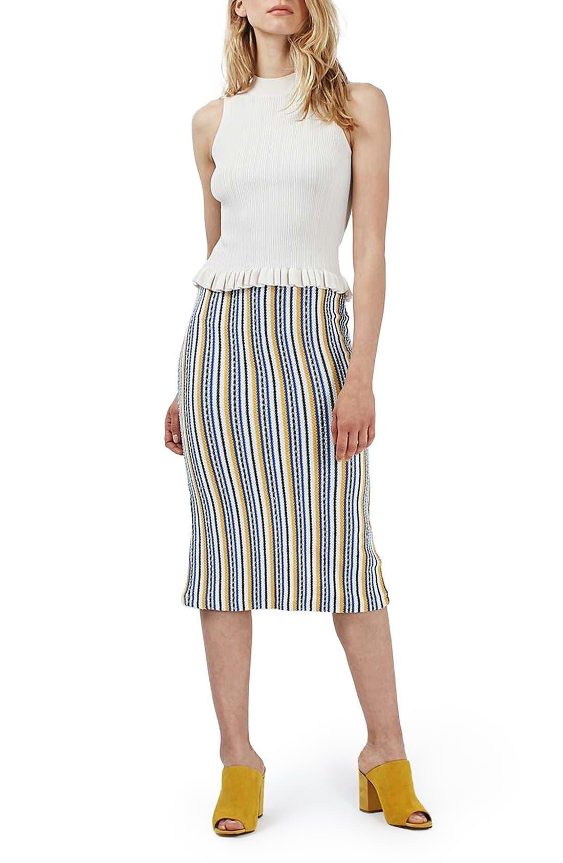 Alternate Image 2  - Topshop 'Seaside' Striped Tube Skirt
