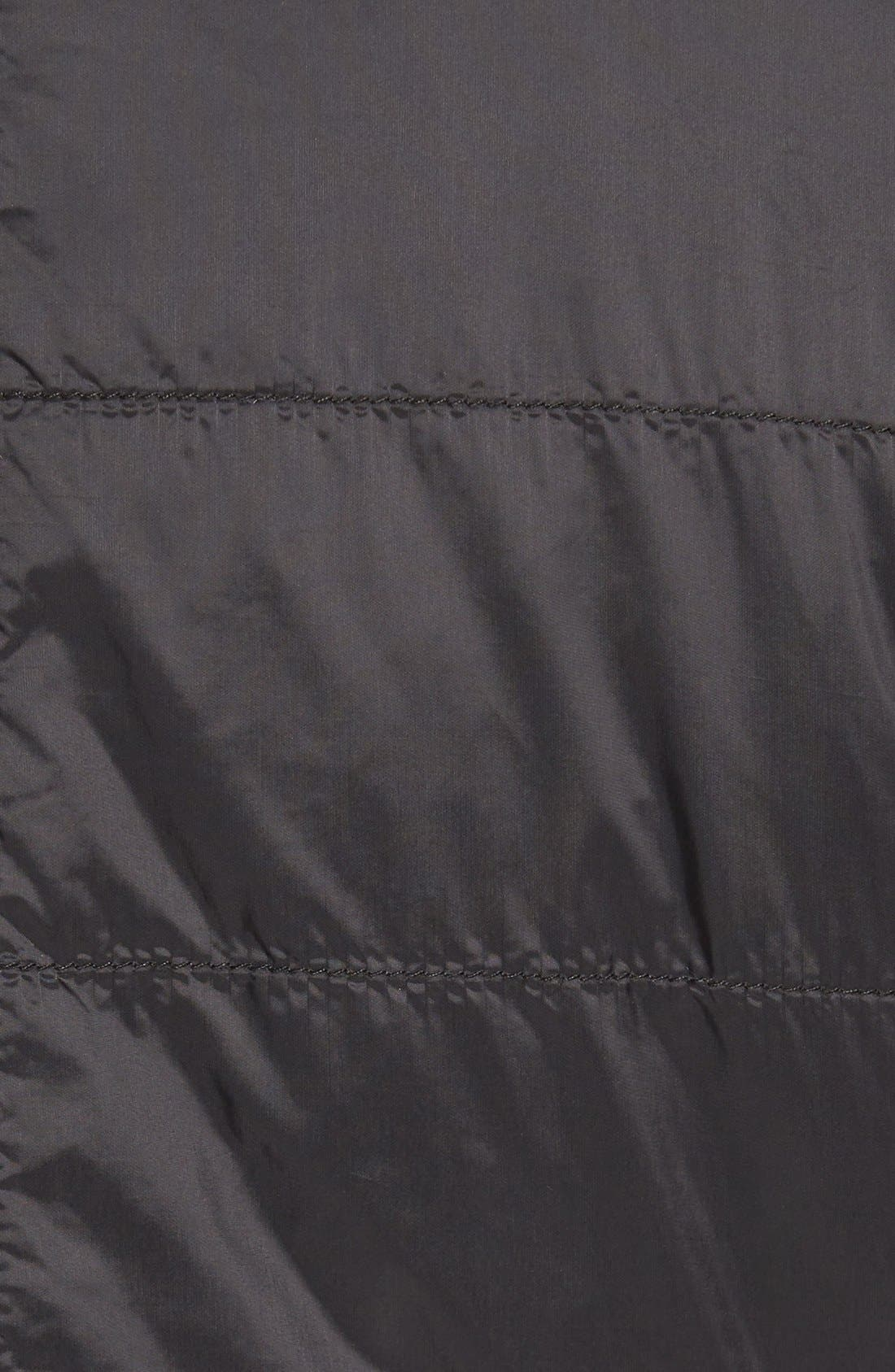 Alternate Image 5  - Missani Le Collezioni Leather Trimmed Nylon Jacket
