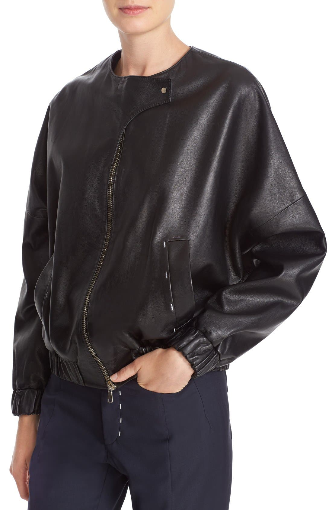 Alternate Image 6  - Colovos Leather Bomber Jacket