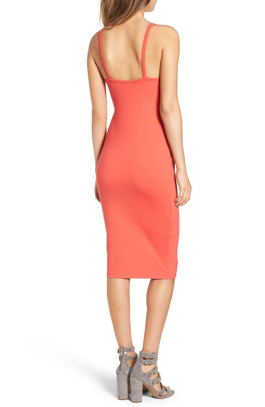Alternate Image 2  - Leith Cutout Strap Body-Con Dress