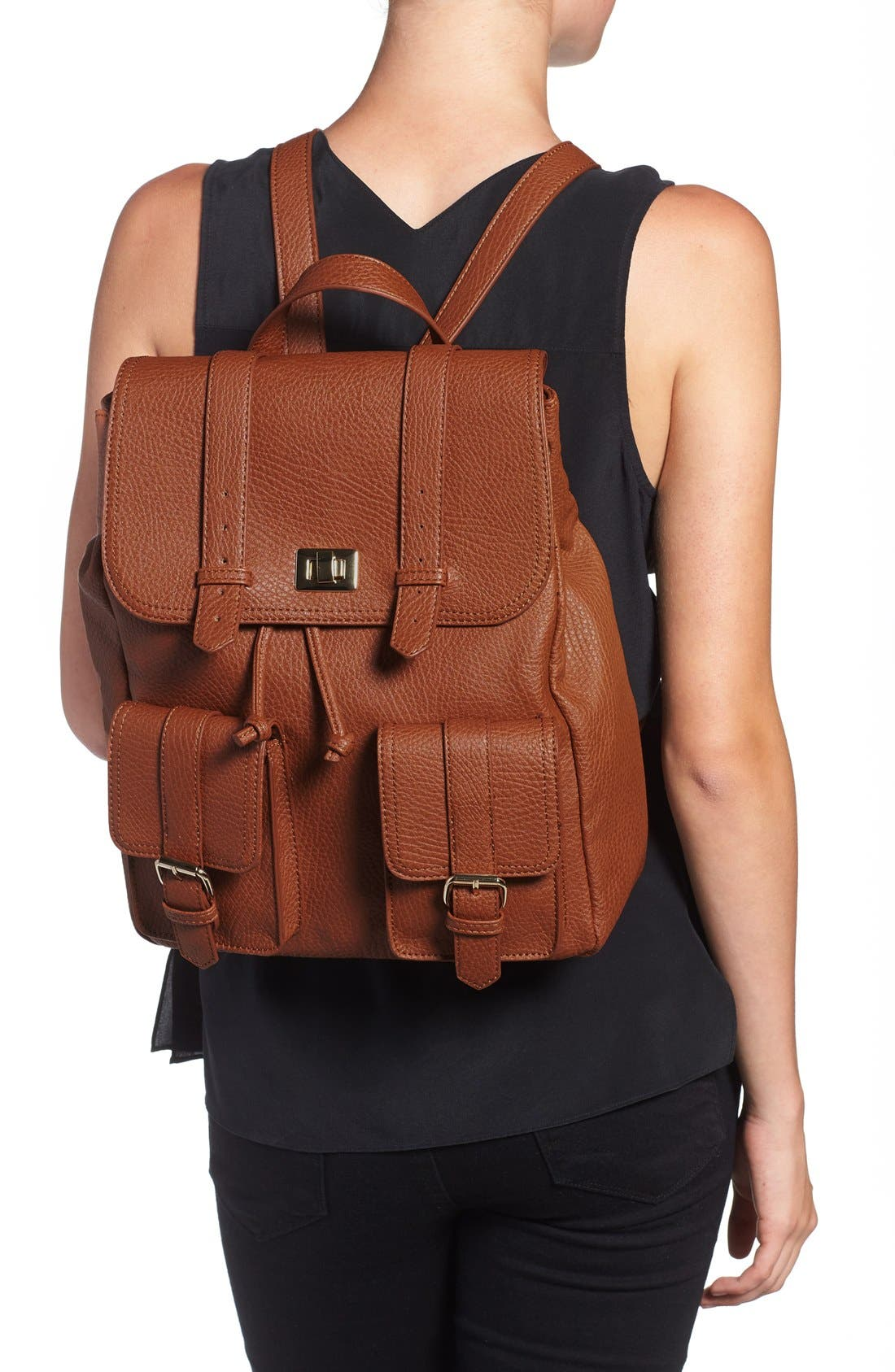 Alternate Image 2  - Sole Society 'Shaw' Faux Leather Backpack