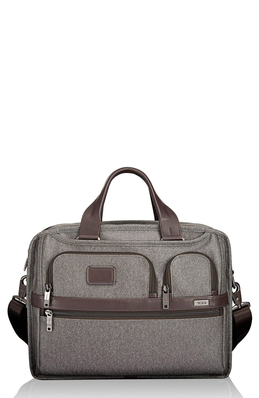 'Alpha 2' Expandable Briefcase,                             Main thumbnail 1, color,                             Earl Grey