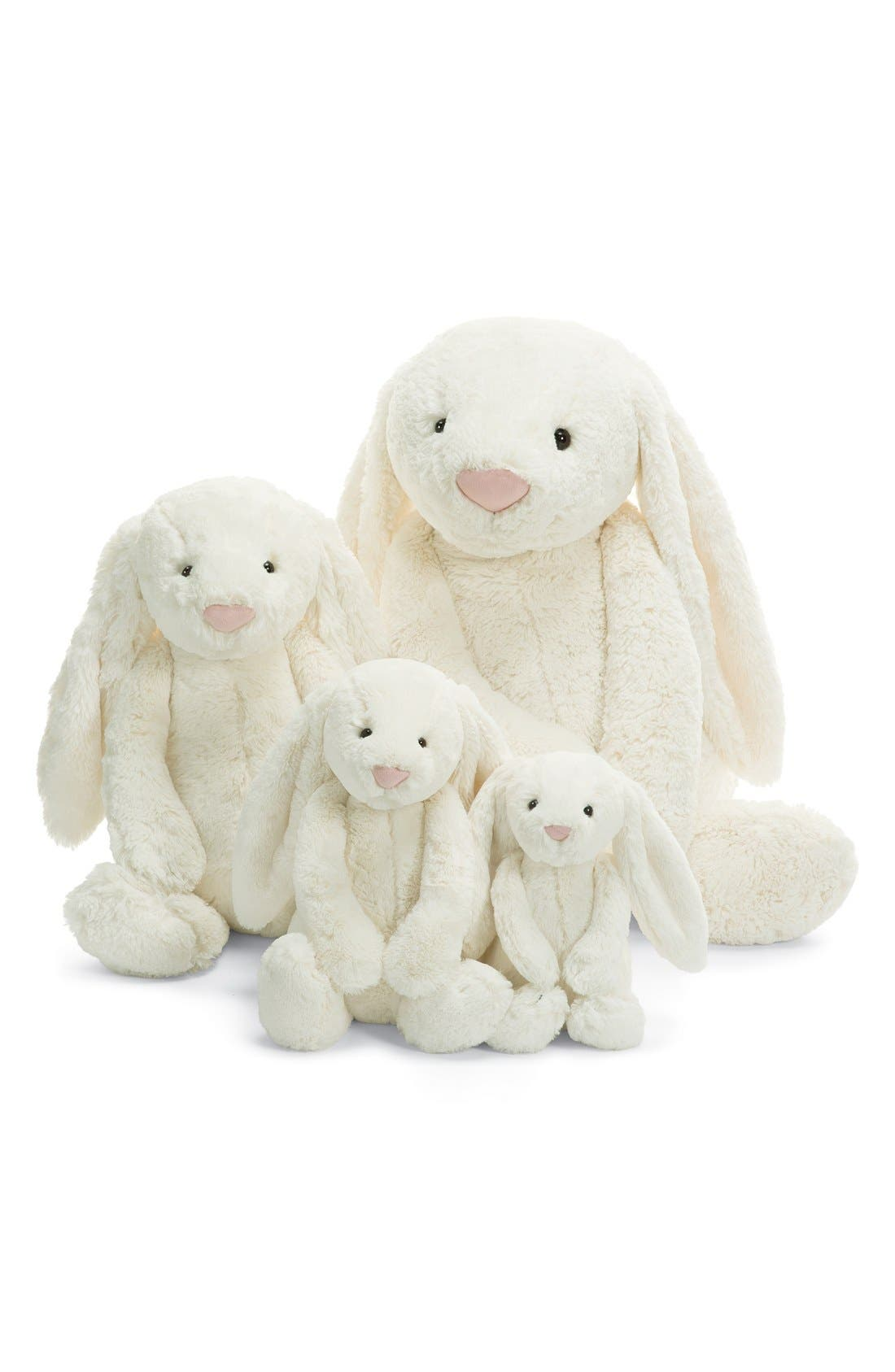 'Large Bashful Bunny' Stuffed Animal,                             Alternate thumbnail 2, color,                             Cream
