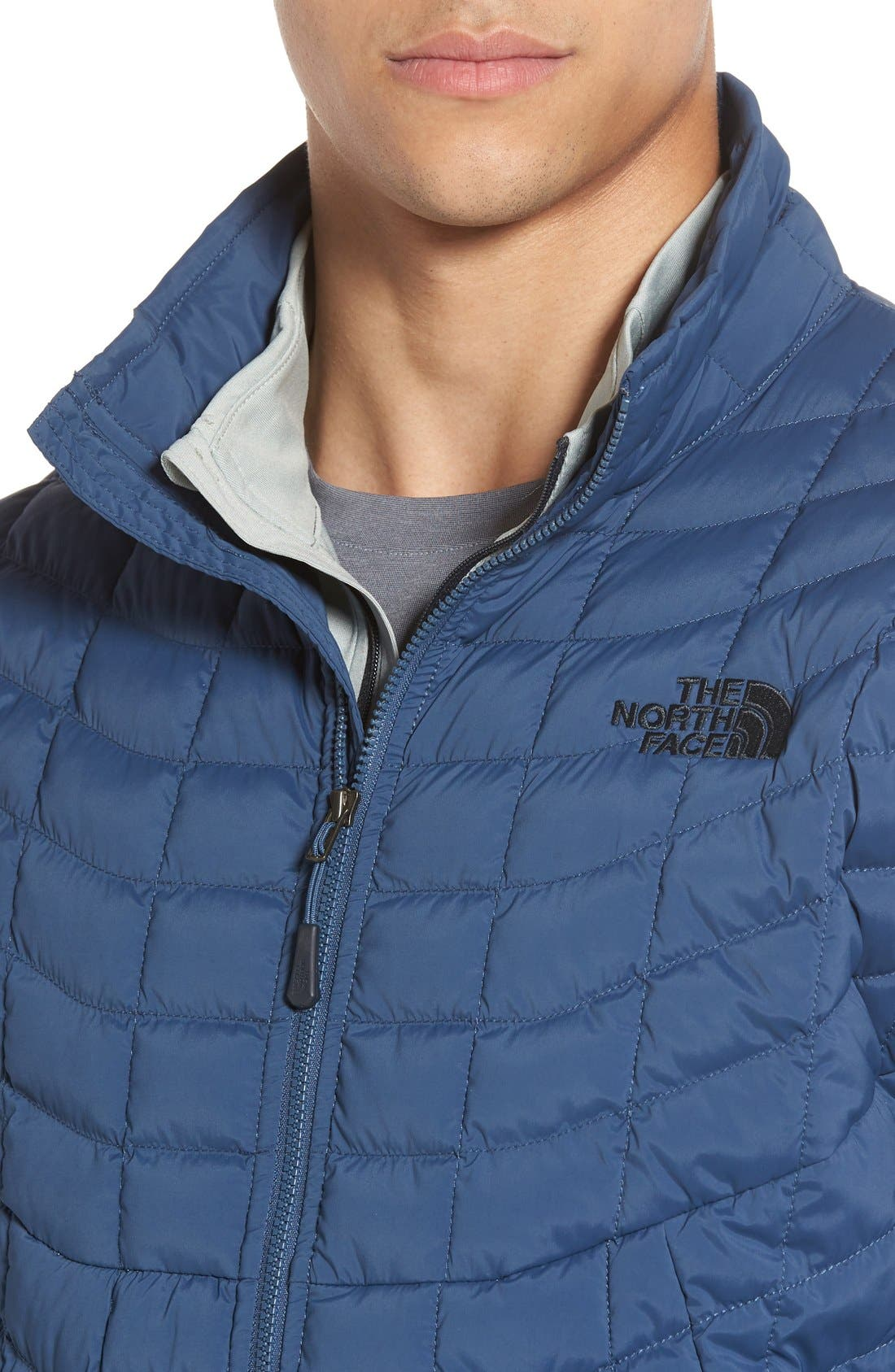 Packable Stretch ThermoBall<sup>™</sup> PrimaLoft<sup>®</sup> Jacket,                             Alternate thumbnail 4, color,                             Shady Blue