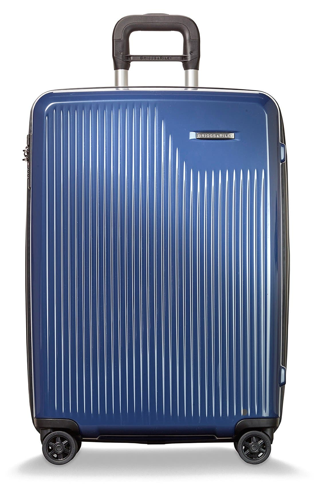 'Sympatico' Expandable Wheeled Packing Case,                         Main,                         color, Marine Blue