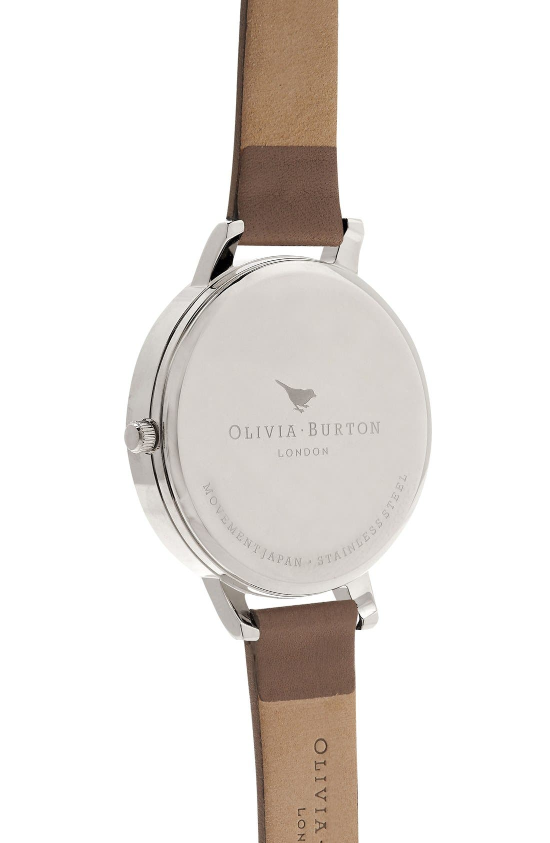 Alternate Image 2  - Olivia Burton 'Animal Motif' Leather Strap Watch, 38mm