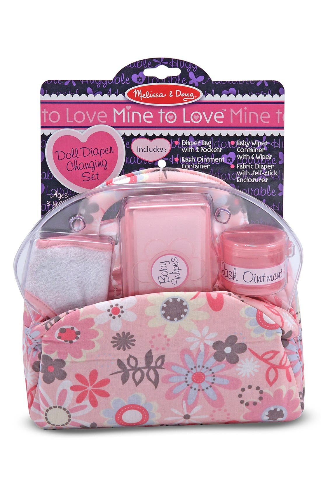 Baby Doll Accessories Set,                             Alternate thumbnail 2, color,                             Pink