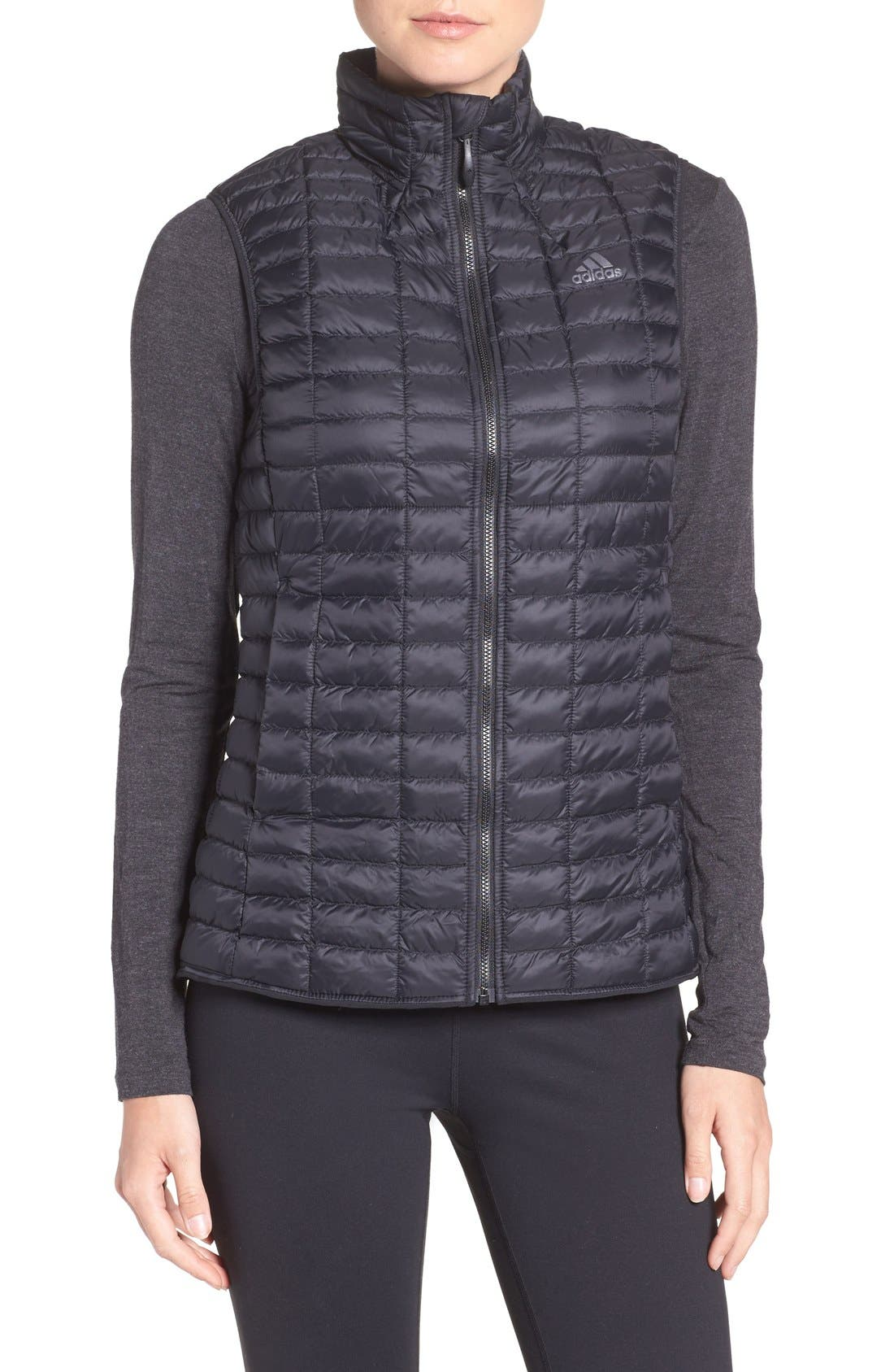 'Flyloft' Insulated Vest,                             Main thumbnail 1, color,                             Black/ Utility Black