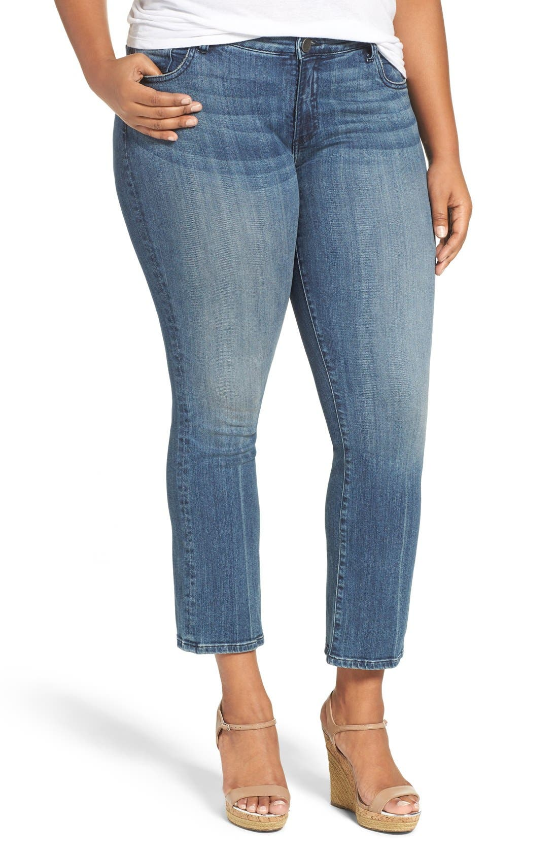 Main Image - KUT from the Kloth 'Reese' Crop Flare Leg Jeans (Perfection) (Plus Size)