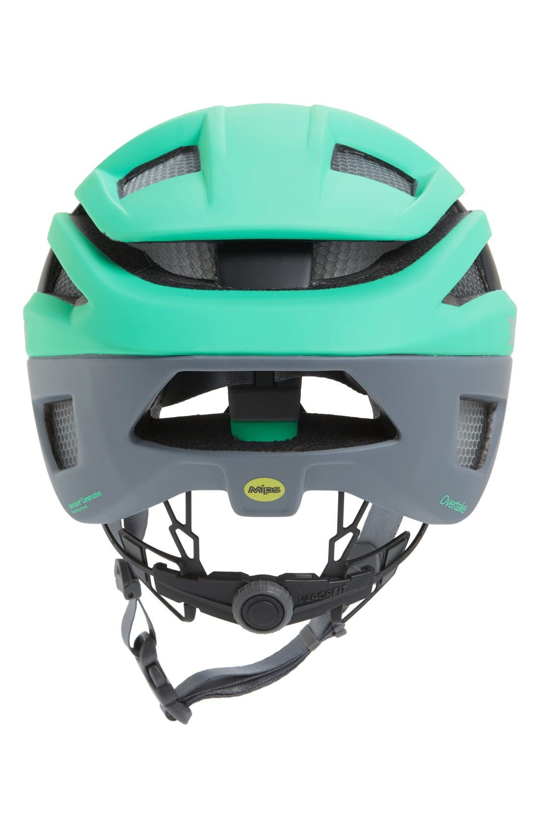 'Overtake with MIPS' Biking Racer Helmet,                             Alternate thumbnail 2, color,                             Matte Opal/ Charcoal