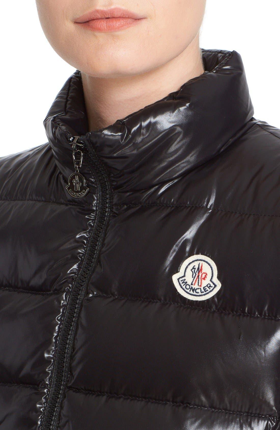 Alternate Image 5  - Moncler Ghany Water Resistant Shiny Nylon Down Puffer Vest