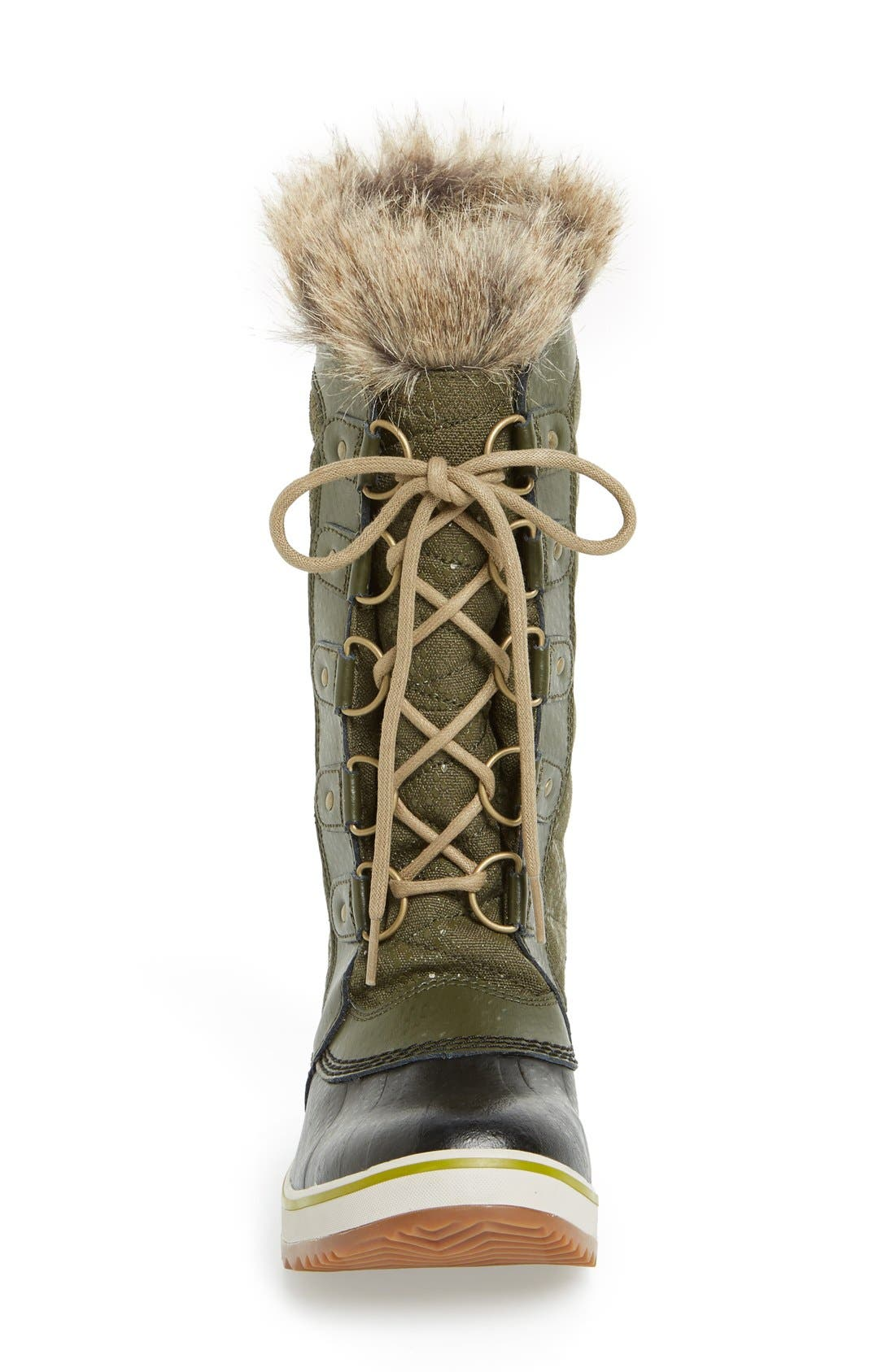 'Tofino II' Faux Fur Lined Waterproof Boot,                             Alternate thumbnail 3, color,                             Peatmoss