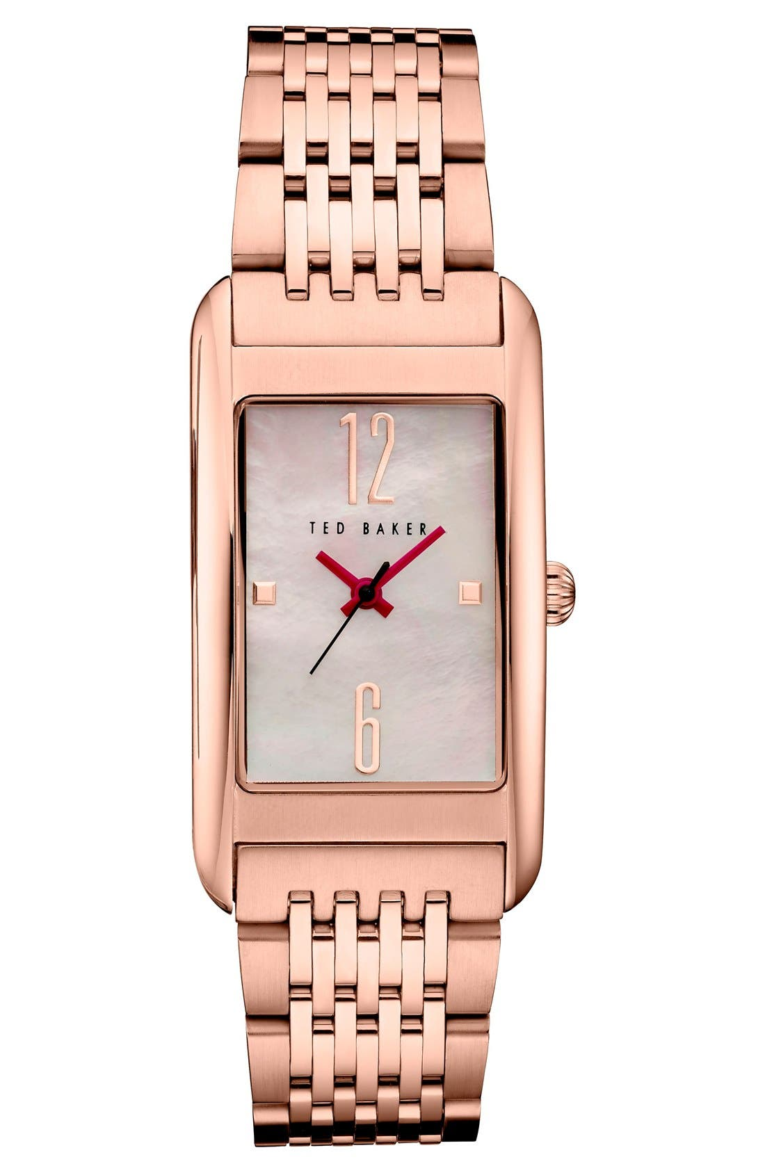 Main Image - Ted Baker London Rectangle Case Bracelet Watch, 23mm