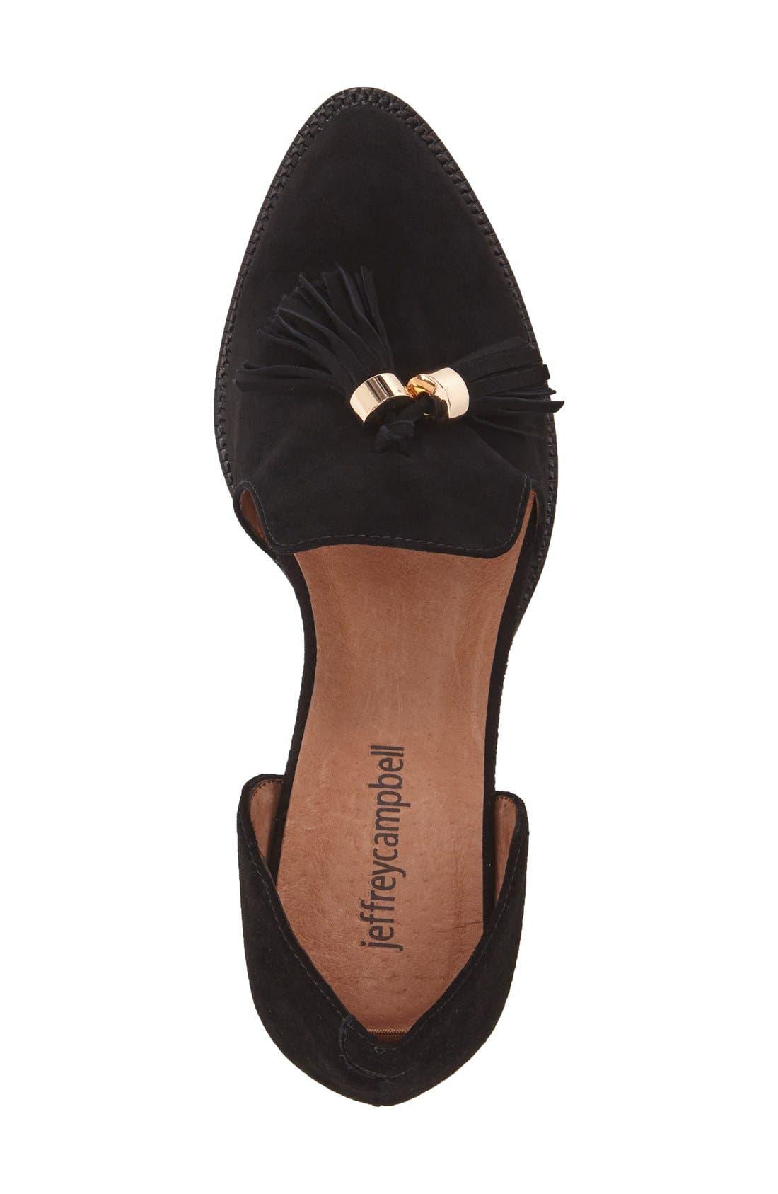 Alternate Image 3  - Jeffrey Campbell 'Civil' Pearly Heeled Beaded Tassel Loafer (Women)