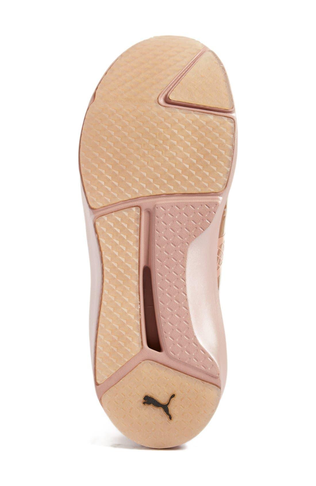 Fierce Metallic High Top Sneaker,                             Alternate thumbnail 4, color,                             Rose Gold