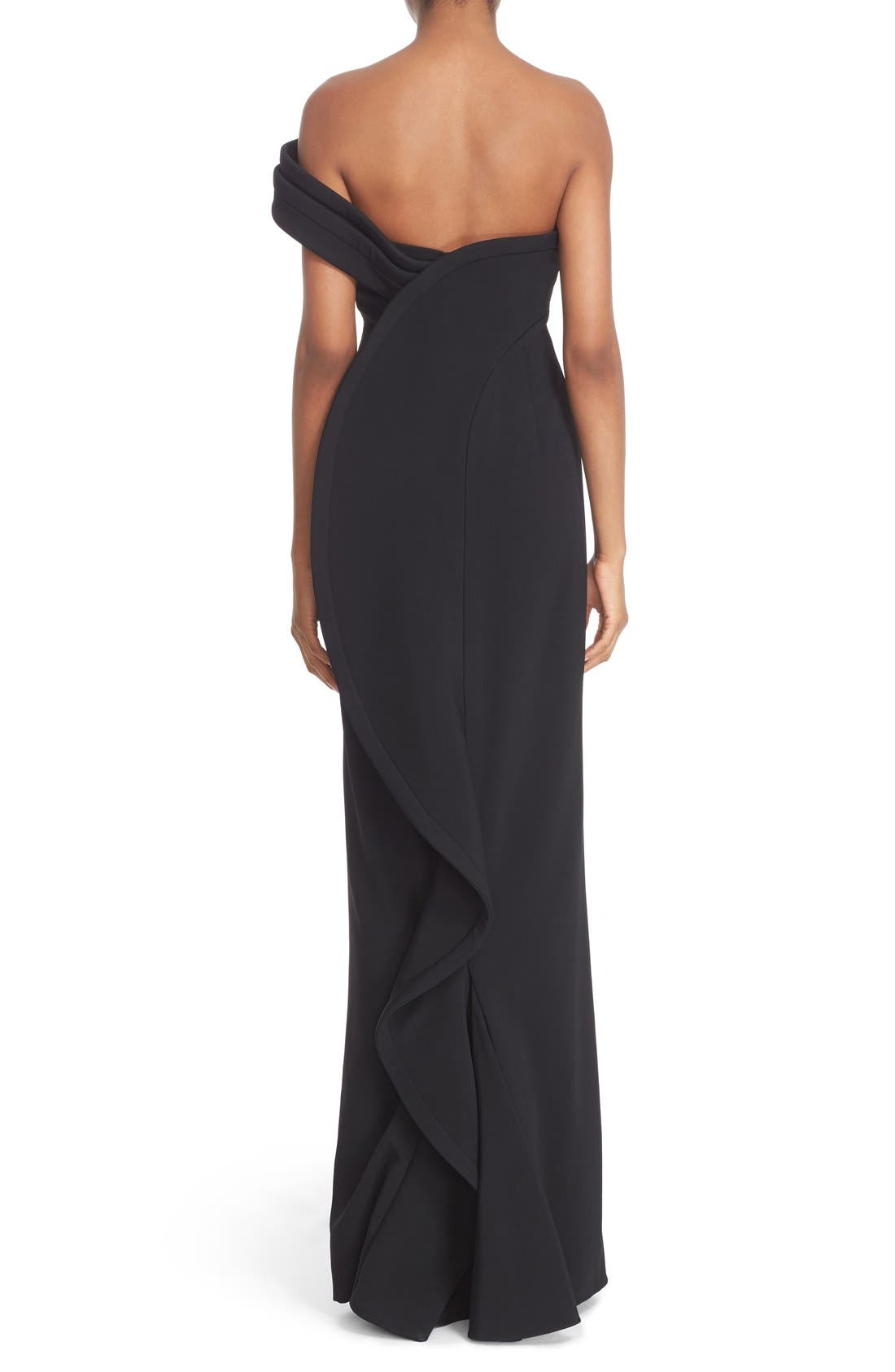 Alternate Image 2  - Brandon Maxwell 'Cady' Off the Shoulder Column Gown