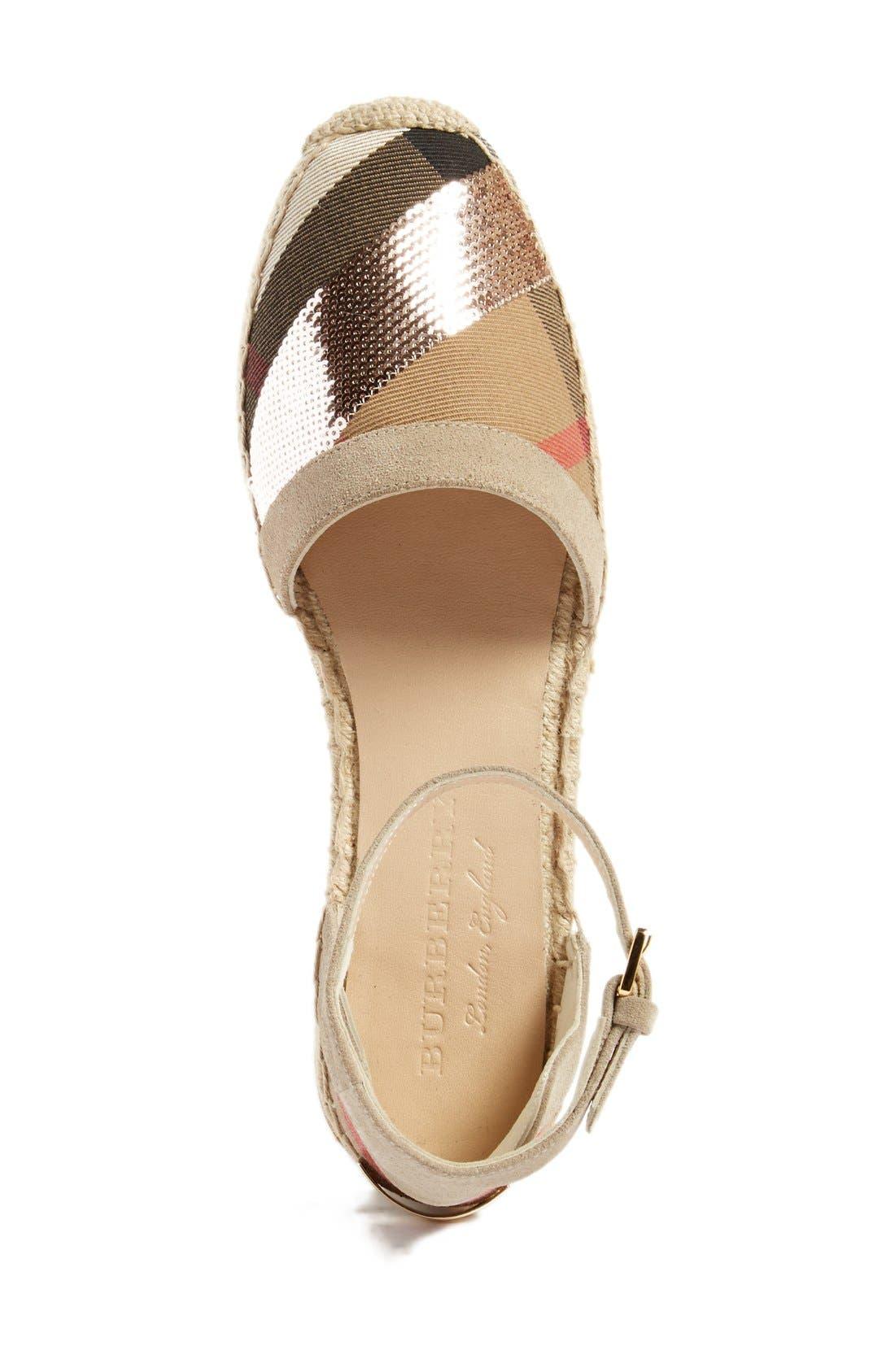 'Abbingdon' Ankle Strap Espadrille Sandal,                             Alternate thumbnail 3, color,                             Grey/ Pale Pink