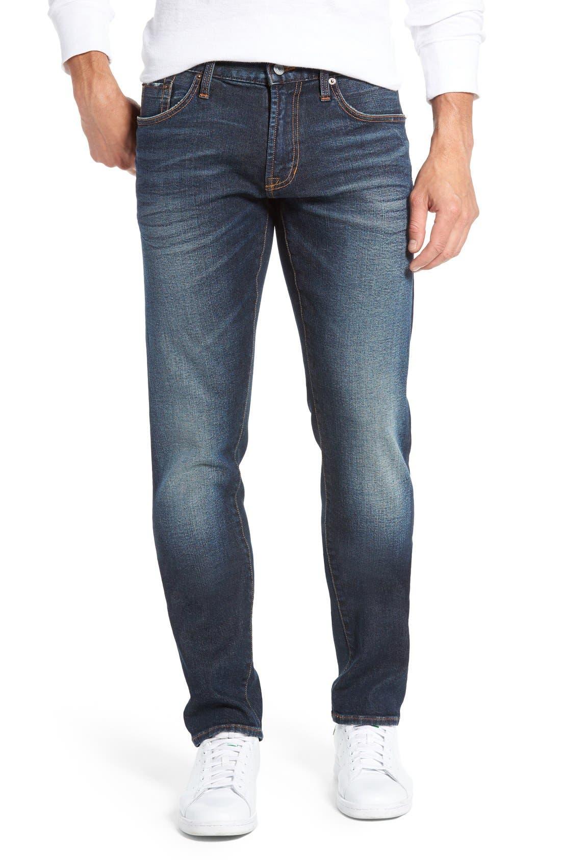 Jean Shop Jim Stretch Selvedge Slim Fit Jeans (Court Blue)
