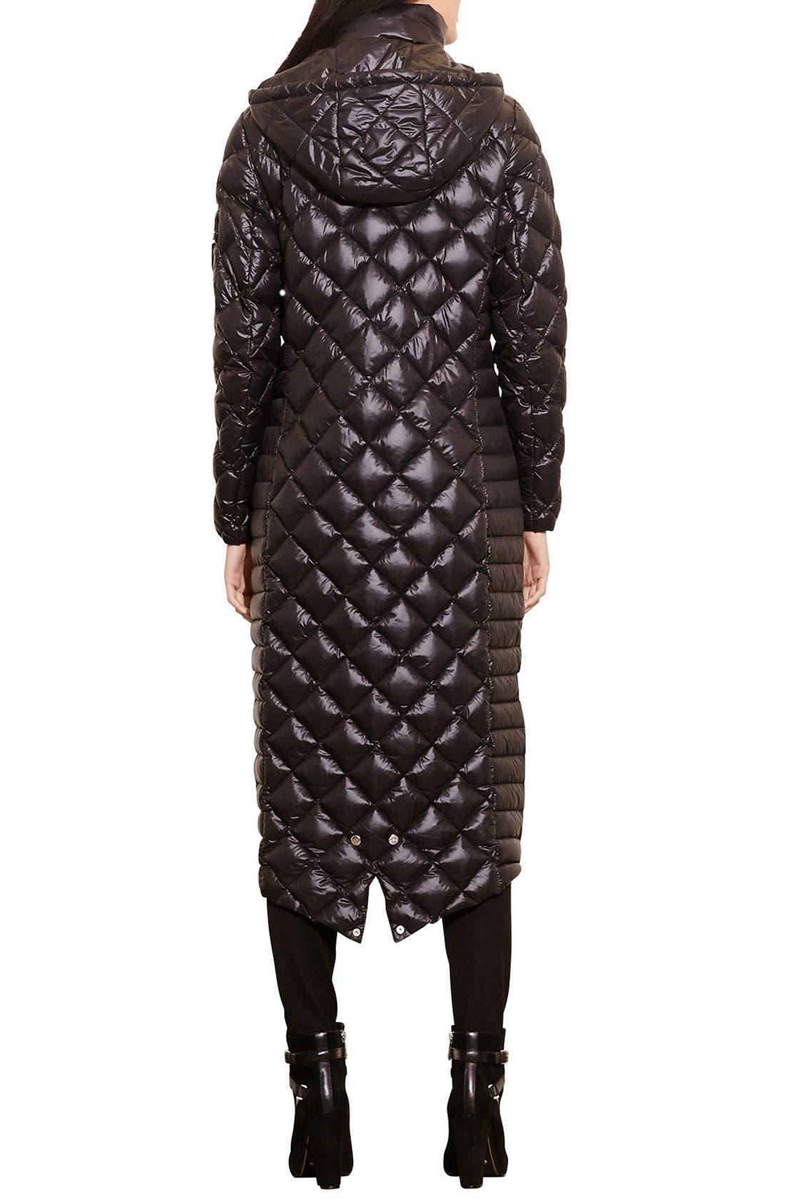 Alternate Image 2  - Lauren Ralph Lauren Packable Quilted Down Coat