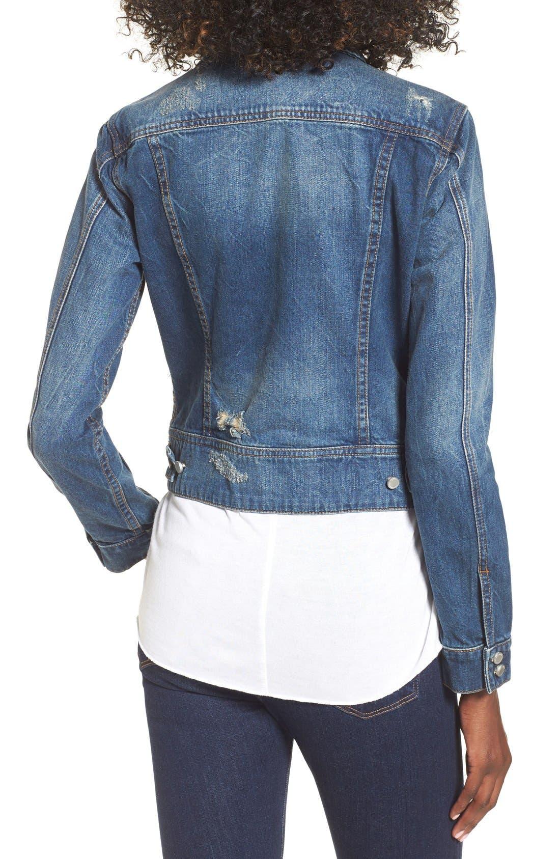 Alternate Image 2  - BLANKNYC 'Toe Jam' Denim Jacket