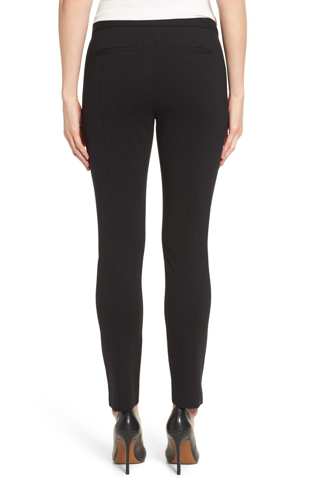 Betty Stretch Ankle Pants,                             Alternate thumbnail 2, color,                             Black
