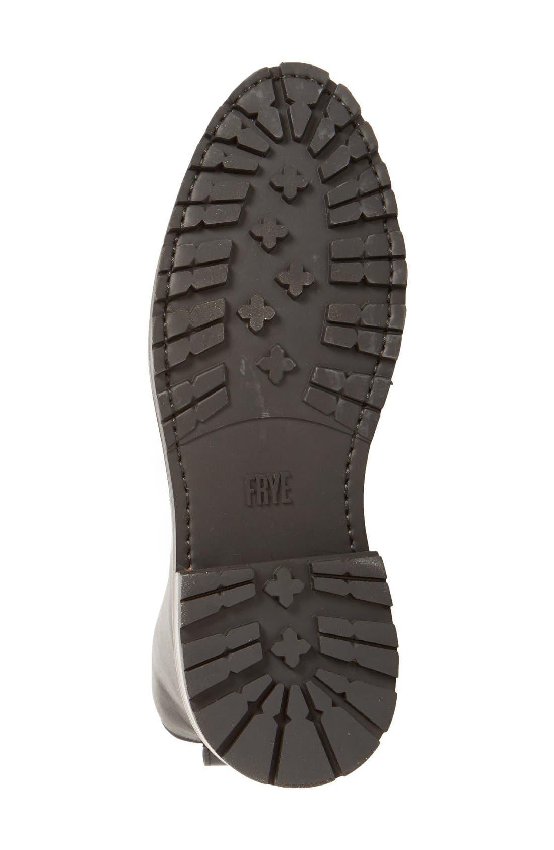 'Julie Combat' Boot,                             Alternate thumbnail 3, color,                             Black