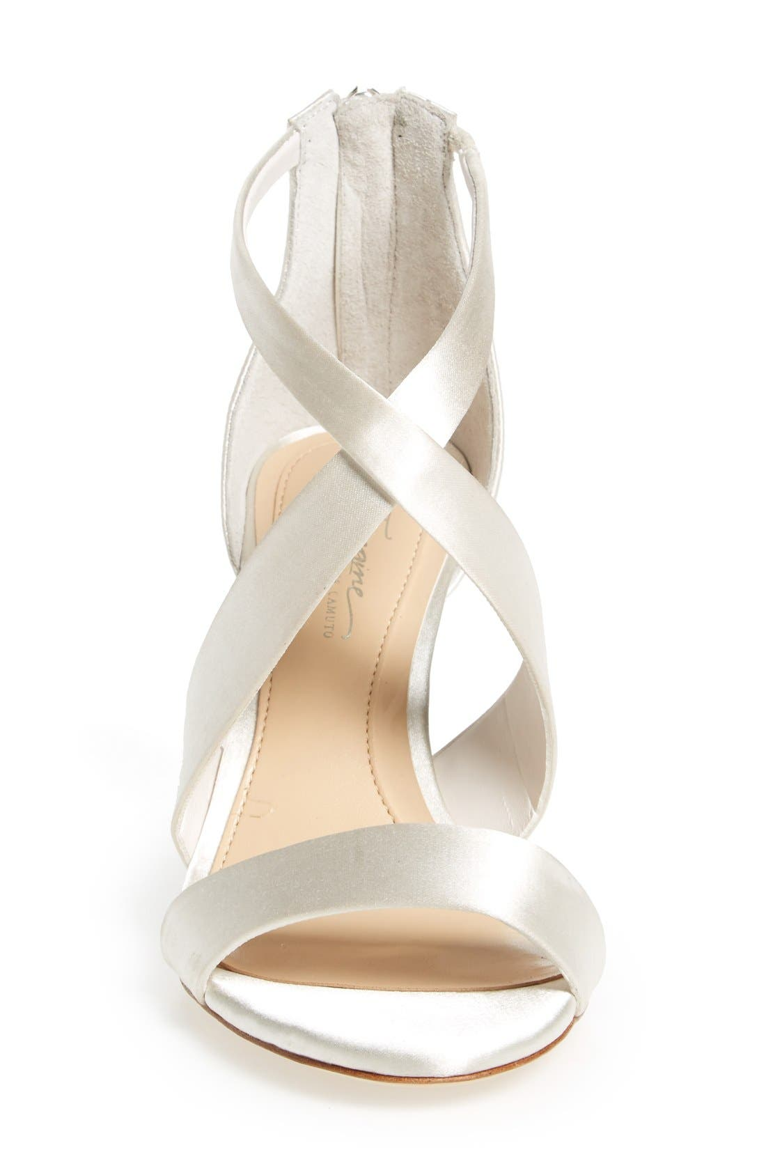 'Pascal' Sandal,                             Alternate thumbnail 3, color,                             Ivory Satin
